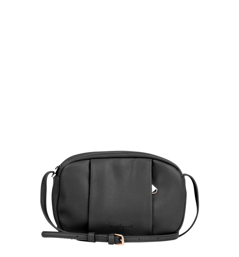 Urban Originals STORY TELLER VEGAN LEATHER CROSSBODY BAG - BLACK