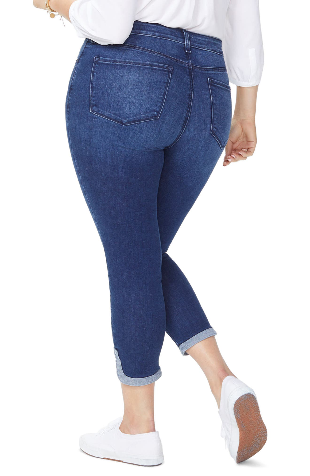 Ami Dolphin Hem Stretch Ankle Skinny Jeans,                             Alternate thumbnail 2, color,                             Cooper