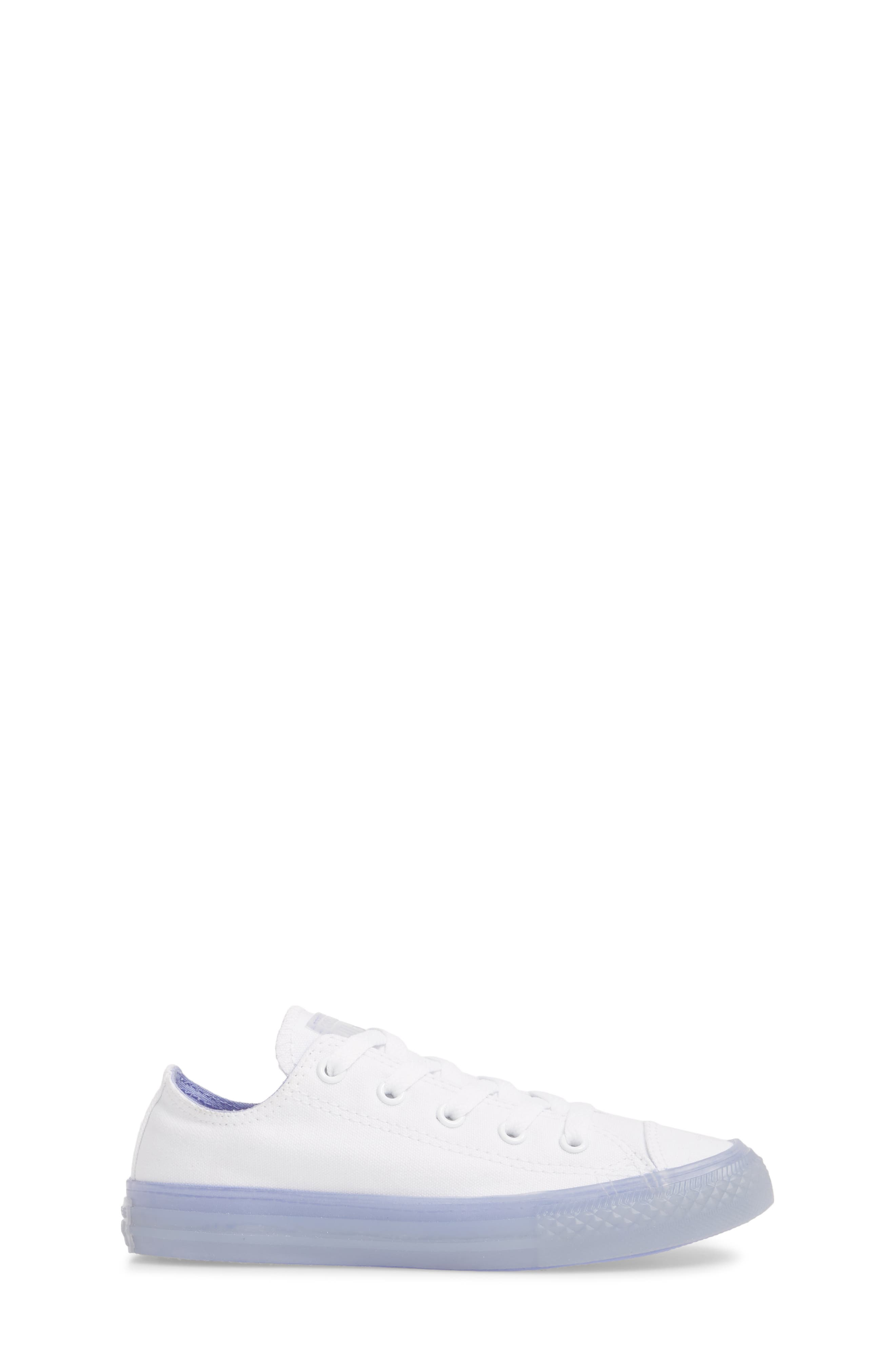 Chuck Taylor<sup>®</sup> All Star<sup>®</sup> Jelly Low Top Sneaker,                             Alternate thumbnail 3, color,                             Purple