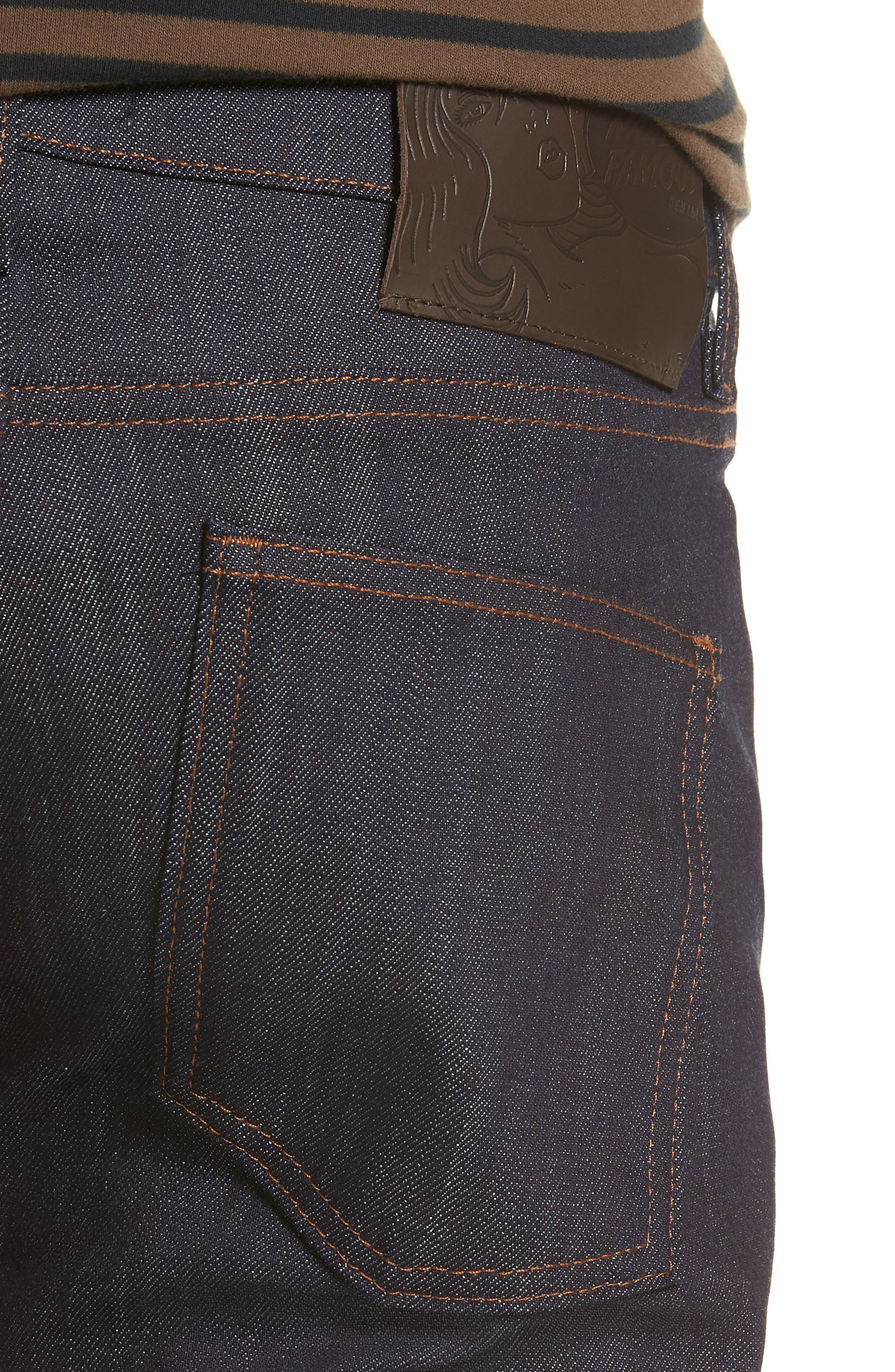 Naked & Famous Super Skinny Guy Skinny Fit Jeans,                             Alternate thumbnail 4, color,                             Indigo Power Stretch