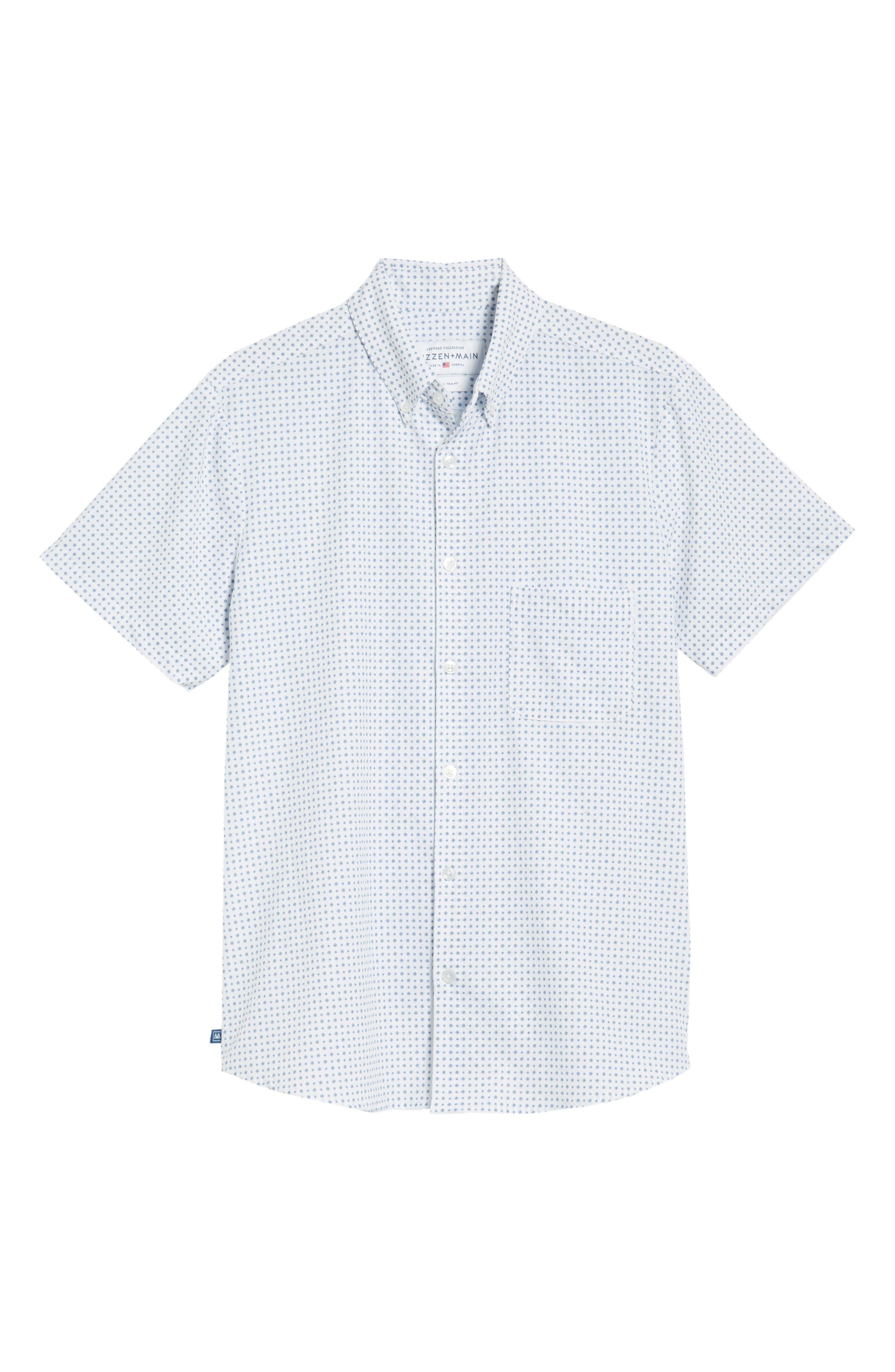 Darst Slim Fit Performance Sport Shirt,                             Alternate thumbnail 6, color,                             White