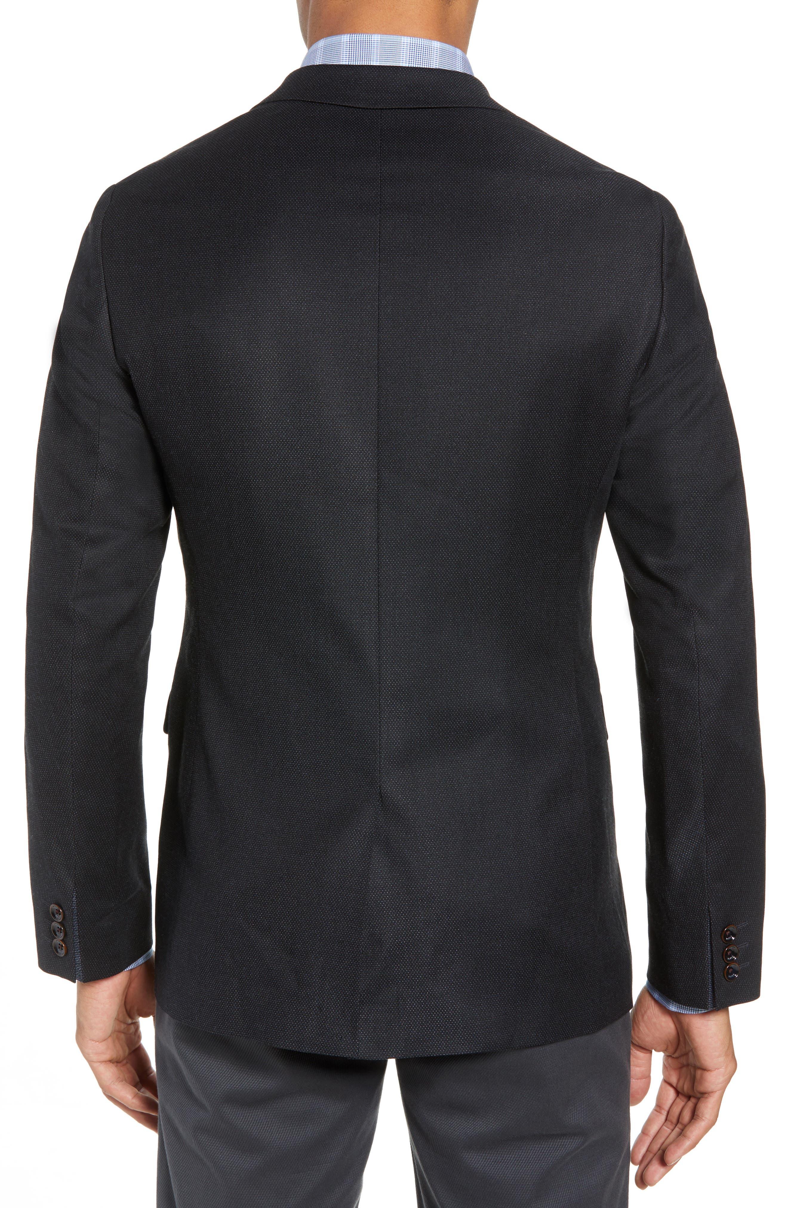 Hazlnut Trim Fit Sport Coat,                             Alternate thumbnail 2, color,                             Navy
