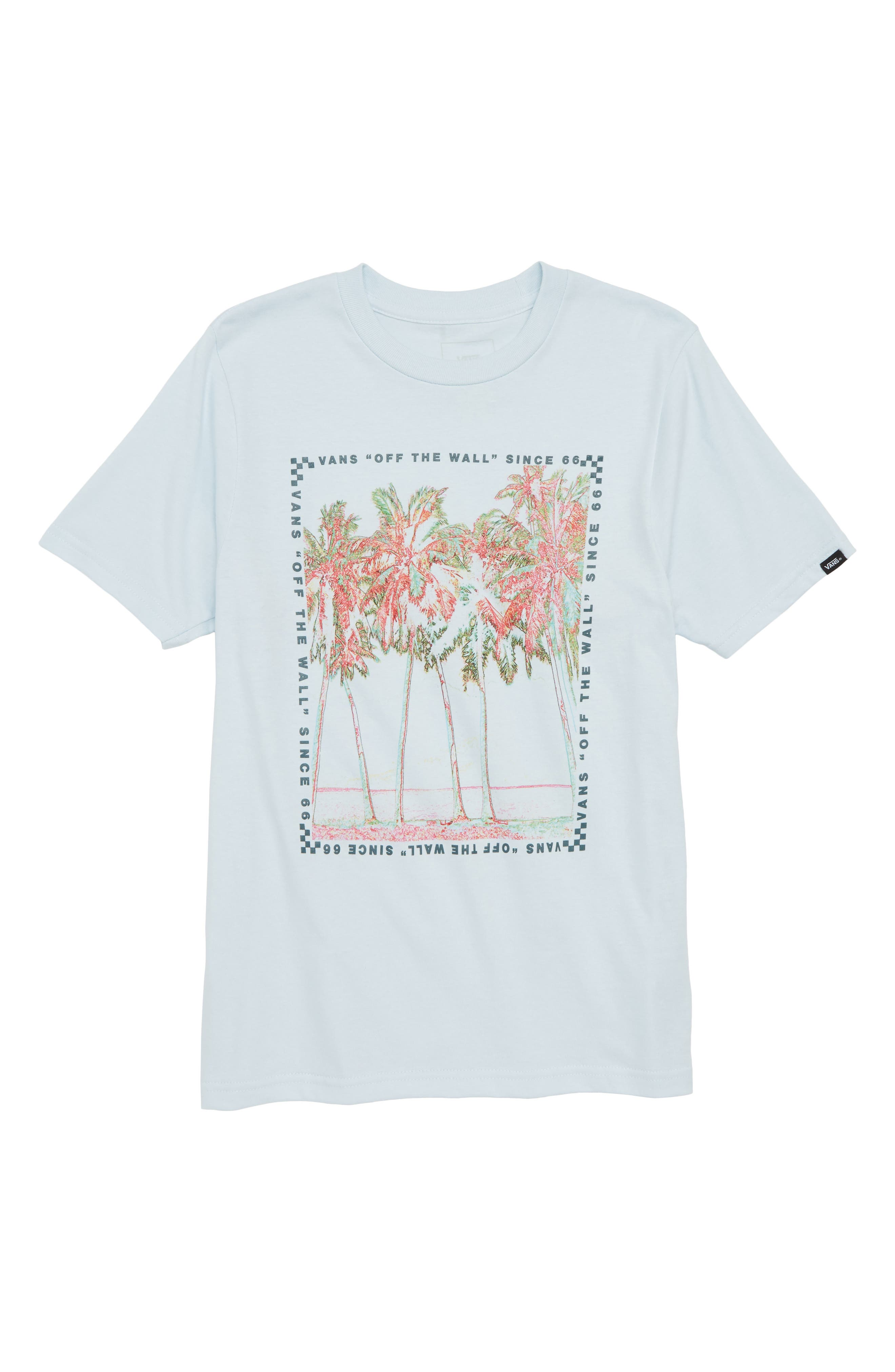 Big Palm Graphic T-Shirt,                             Main thumbnail 1, color,                             Baby Blue