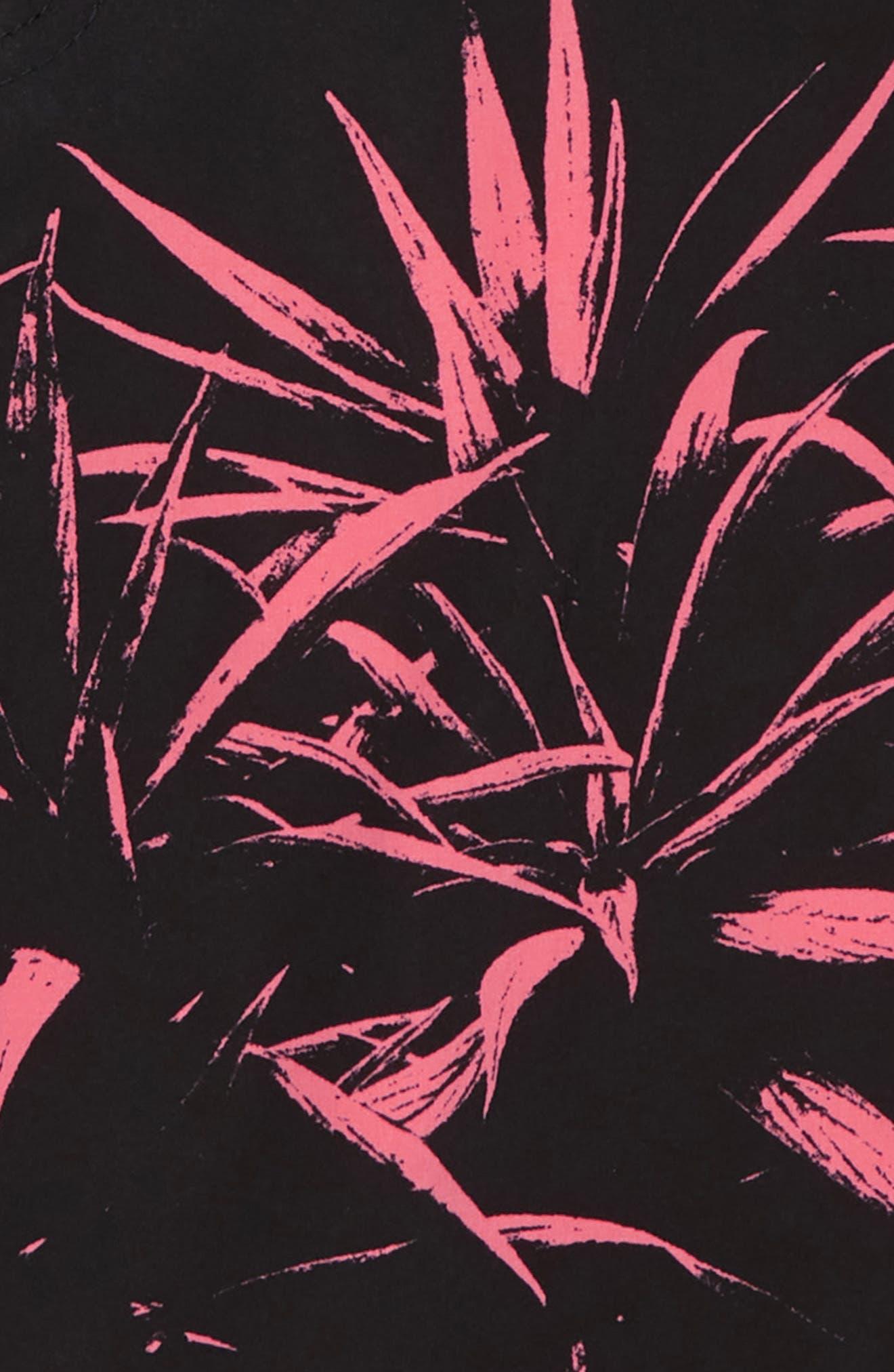 Scalloped Board Shorts,                             Alternate thumbnail 2, color,                             Black