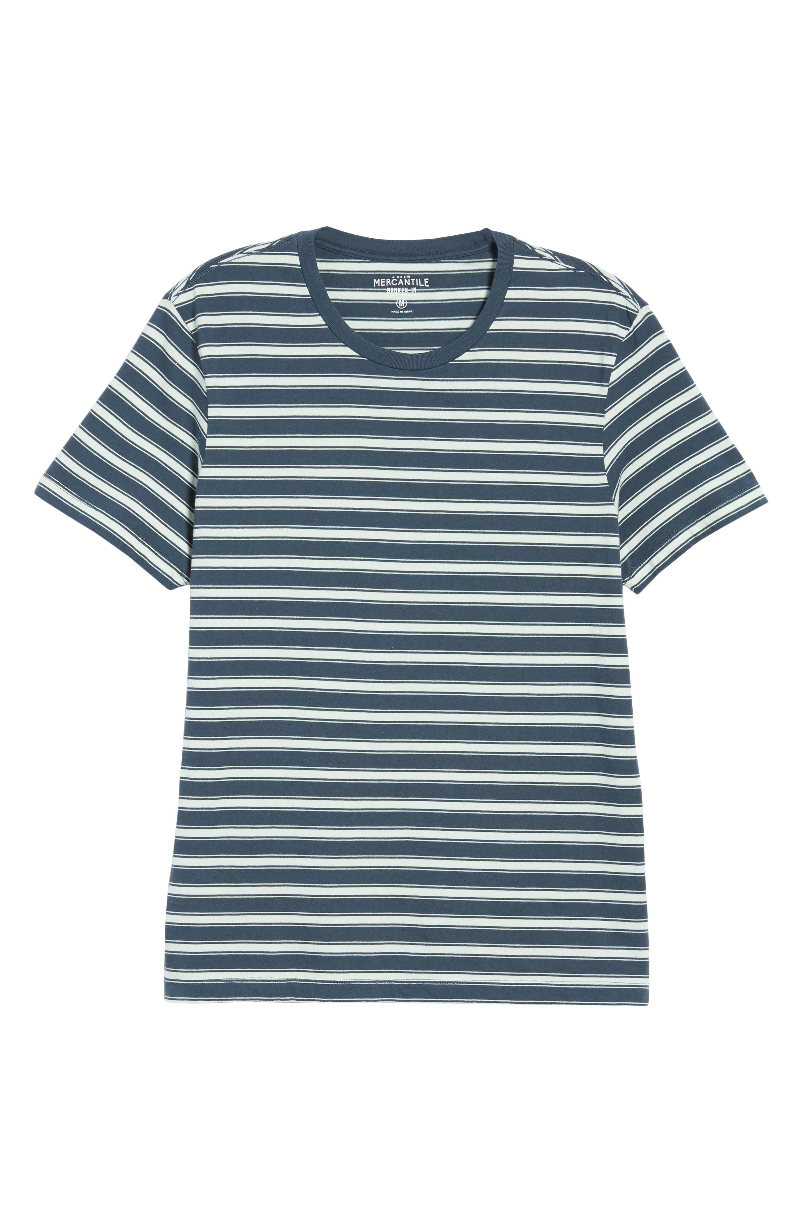 Mercantile Regular Fit Stripe T-Shirt,                             Alternate thumbnail 5, color,                             Muted Midnight