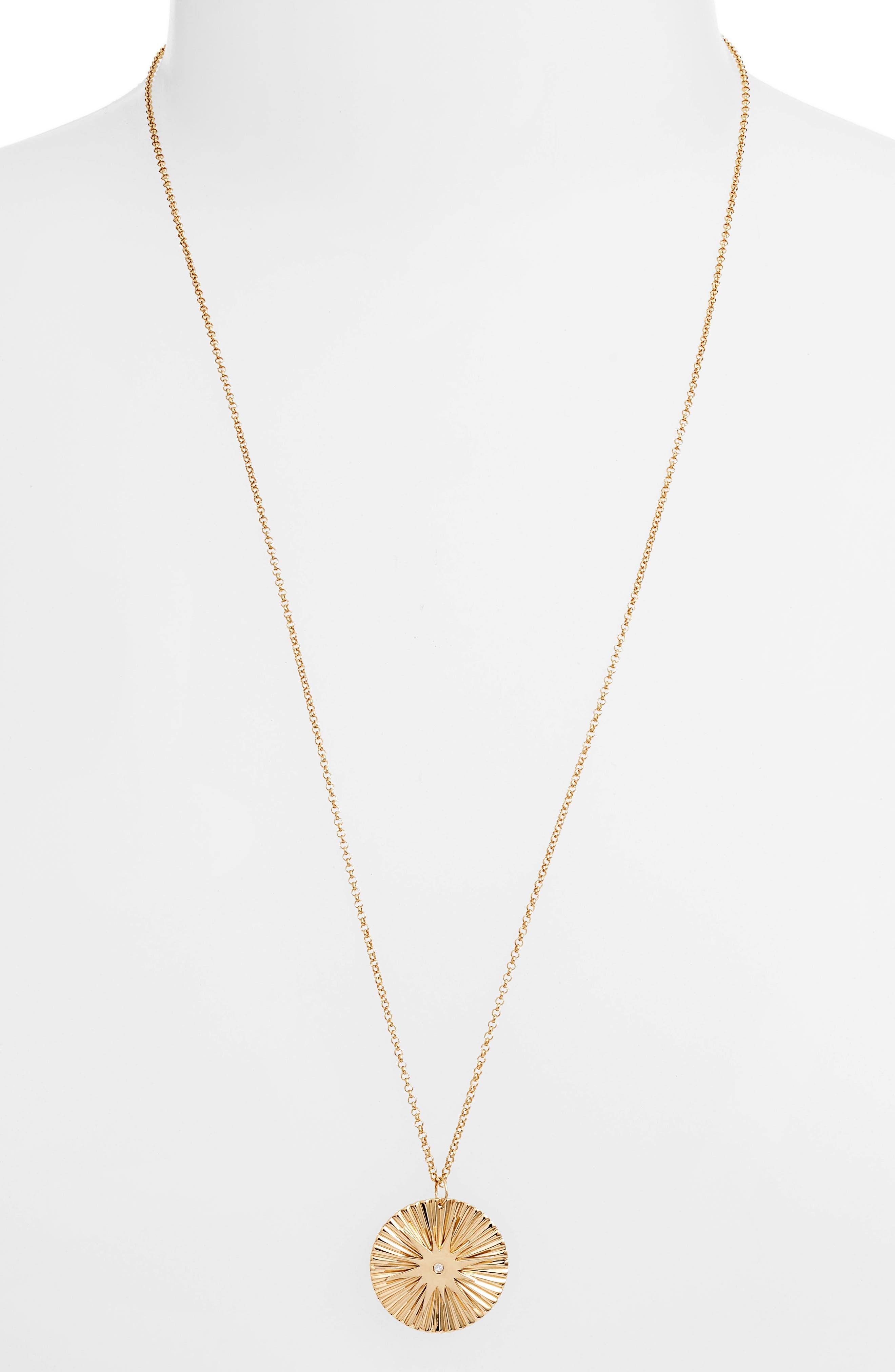 Iris Arlene Starburst Pendant Necklace,                             Main thumbnail 1, color,                             Yellow Vermeil