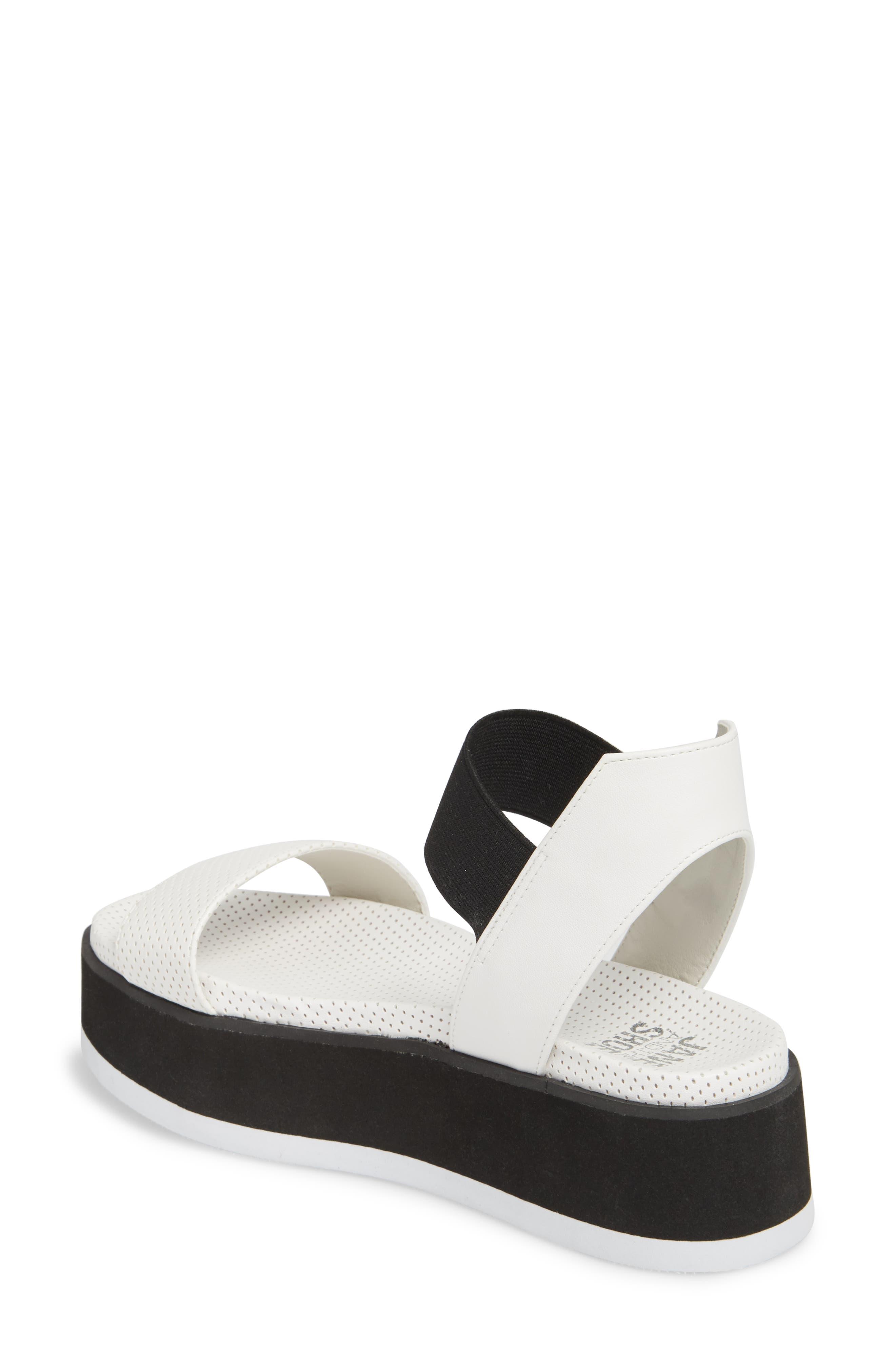 Josie Perforated Platform Sandal,                             Alternate thumbnail 2, color,                             White