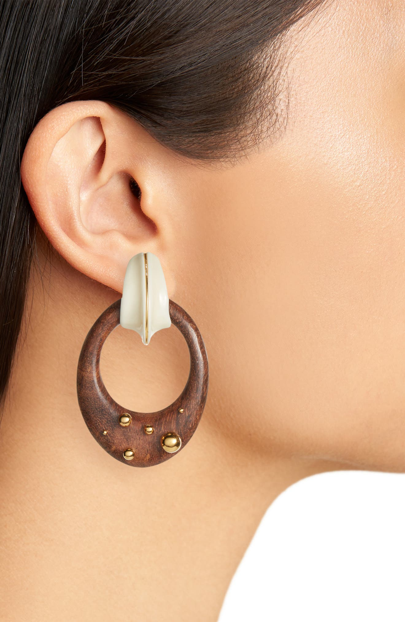 Boa Drop Earrings,                             Alternate thumbnail 2, color,                             Brown