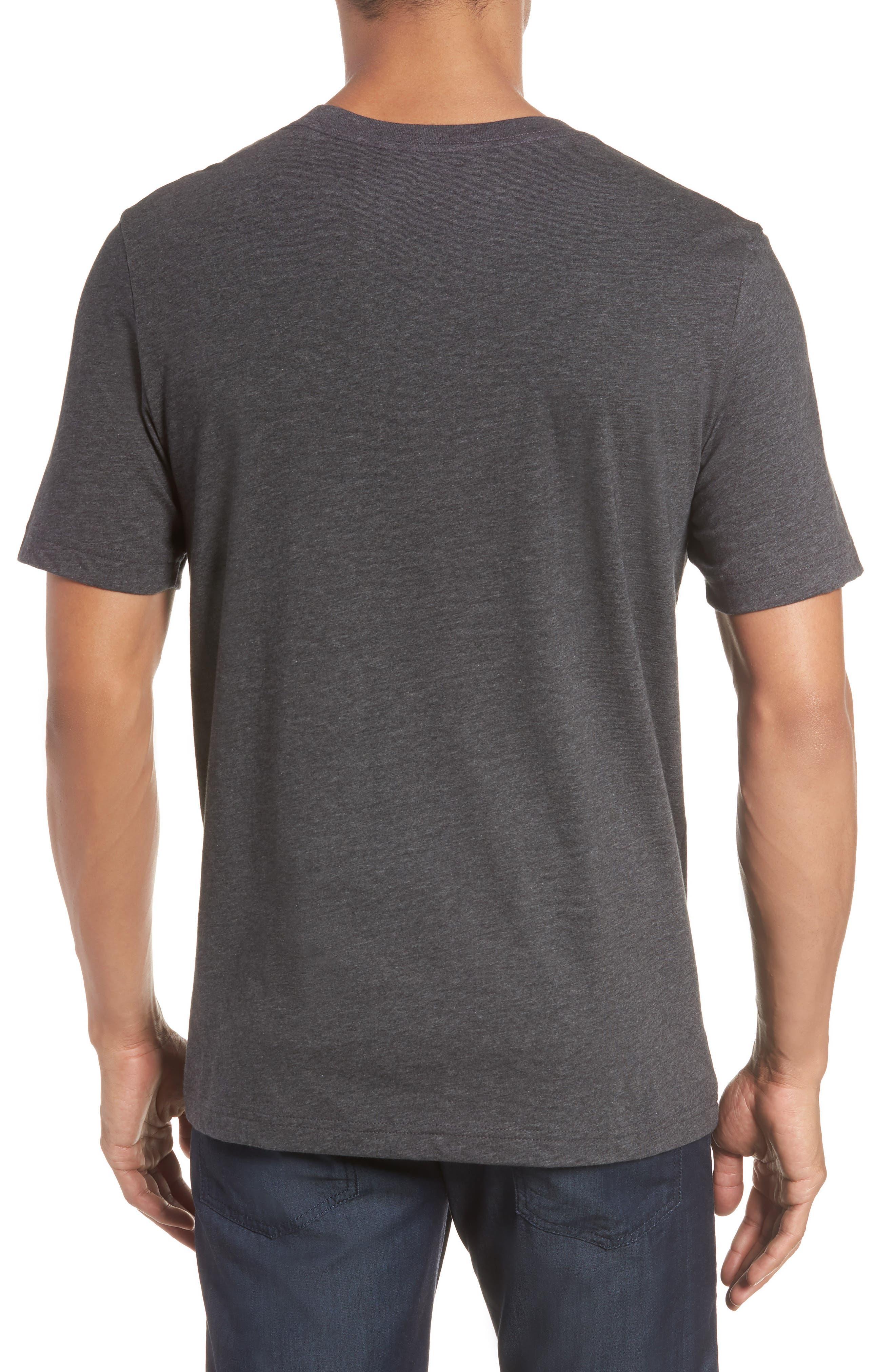 Flogging Print Pocket T-Shirt,                             Alternate thumbnail 2, color,                             Heather Grey Pinstripe