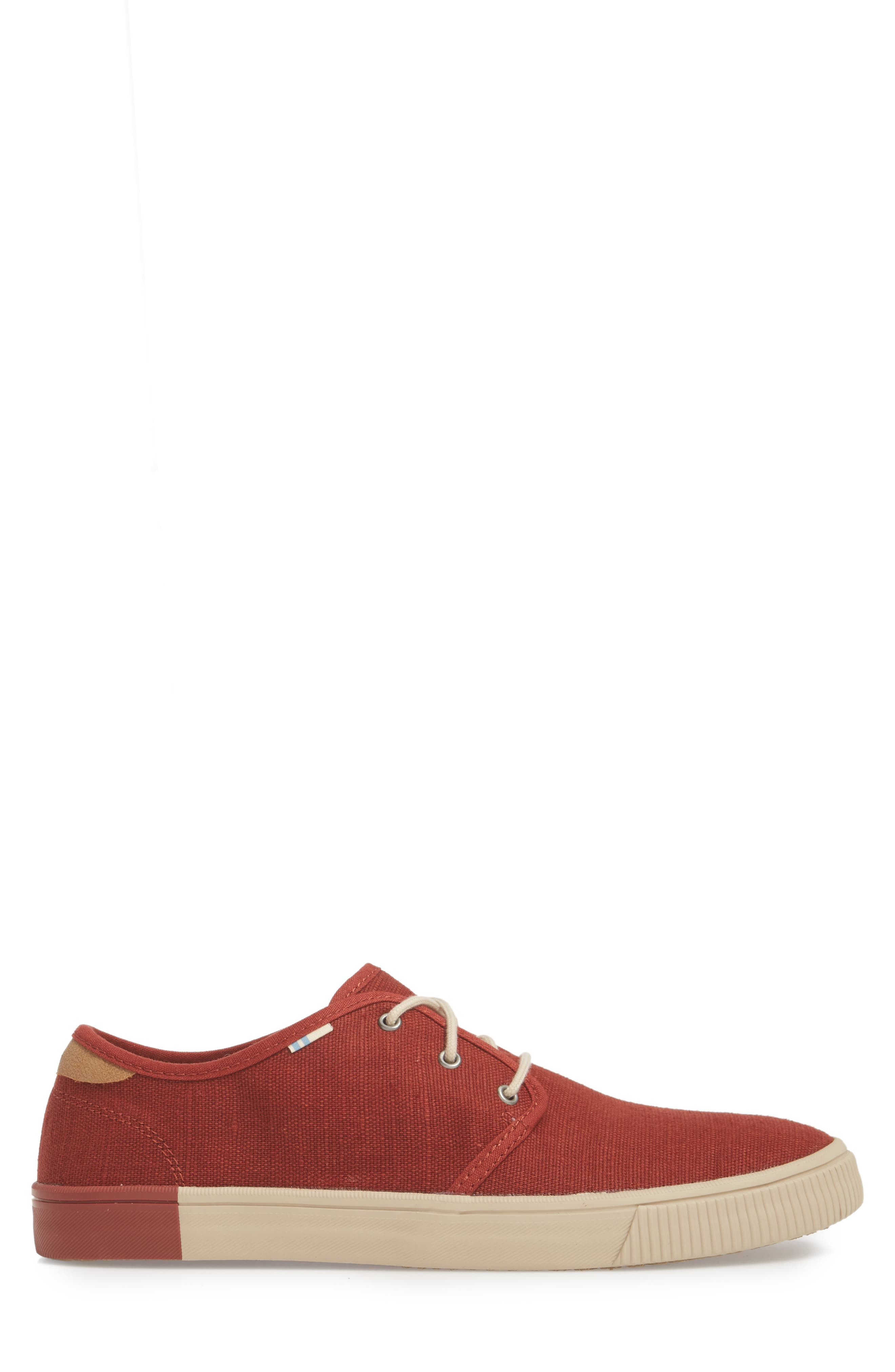 Carlo Low Top Sneaker,                             Alternate thumbnail 4, color,                             Burnt Henna Heritage Canvas
