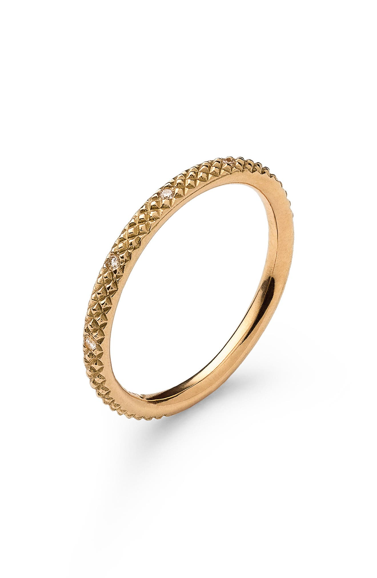 NORA KOGAN Miss Evie Diamond Ring in Yellow Gold