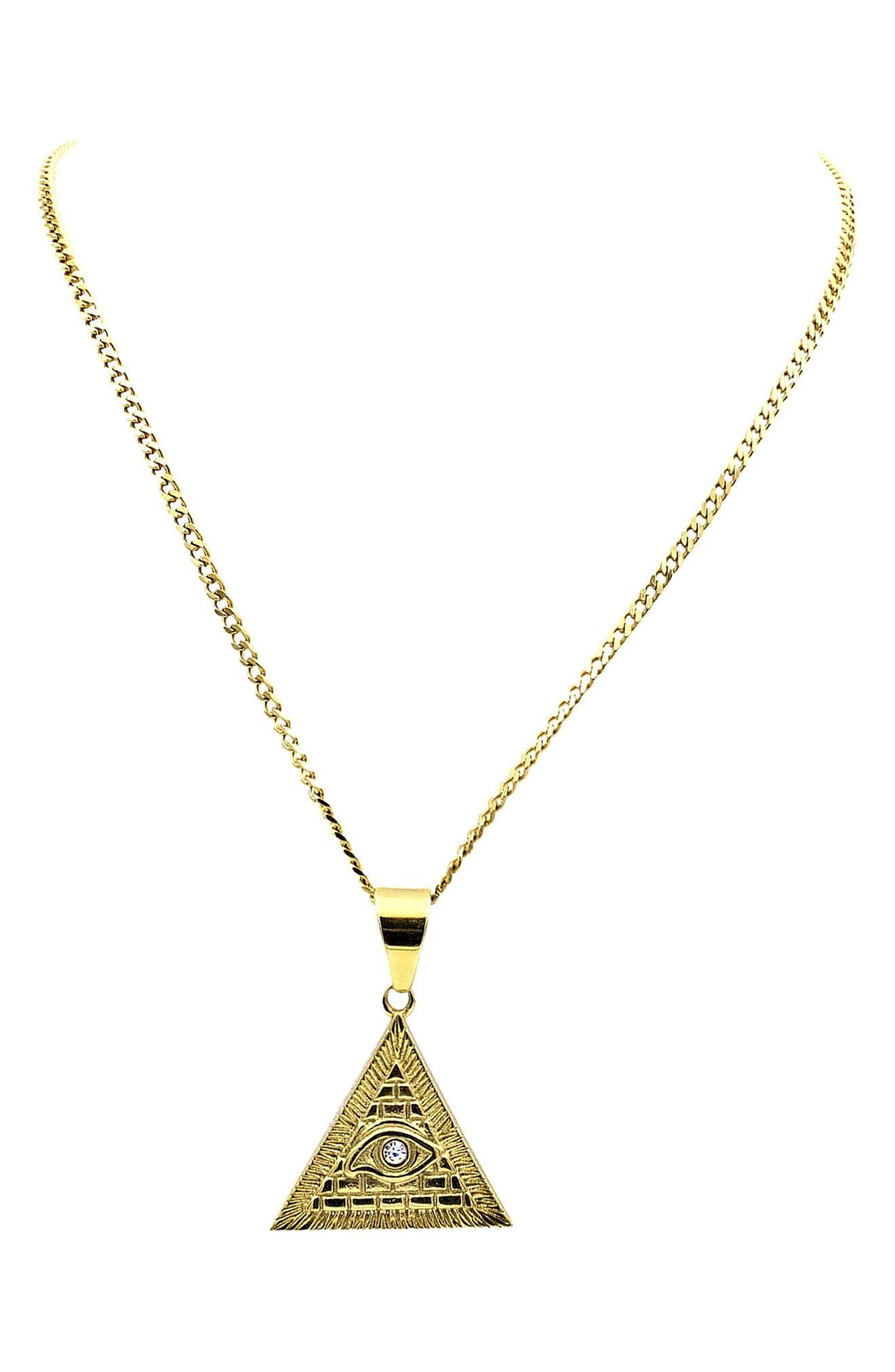Mara Pendant Necklace,                             Main thumbnail 1, color,                             Gold