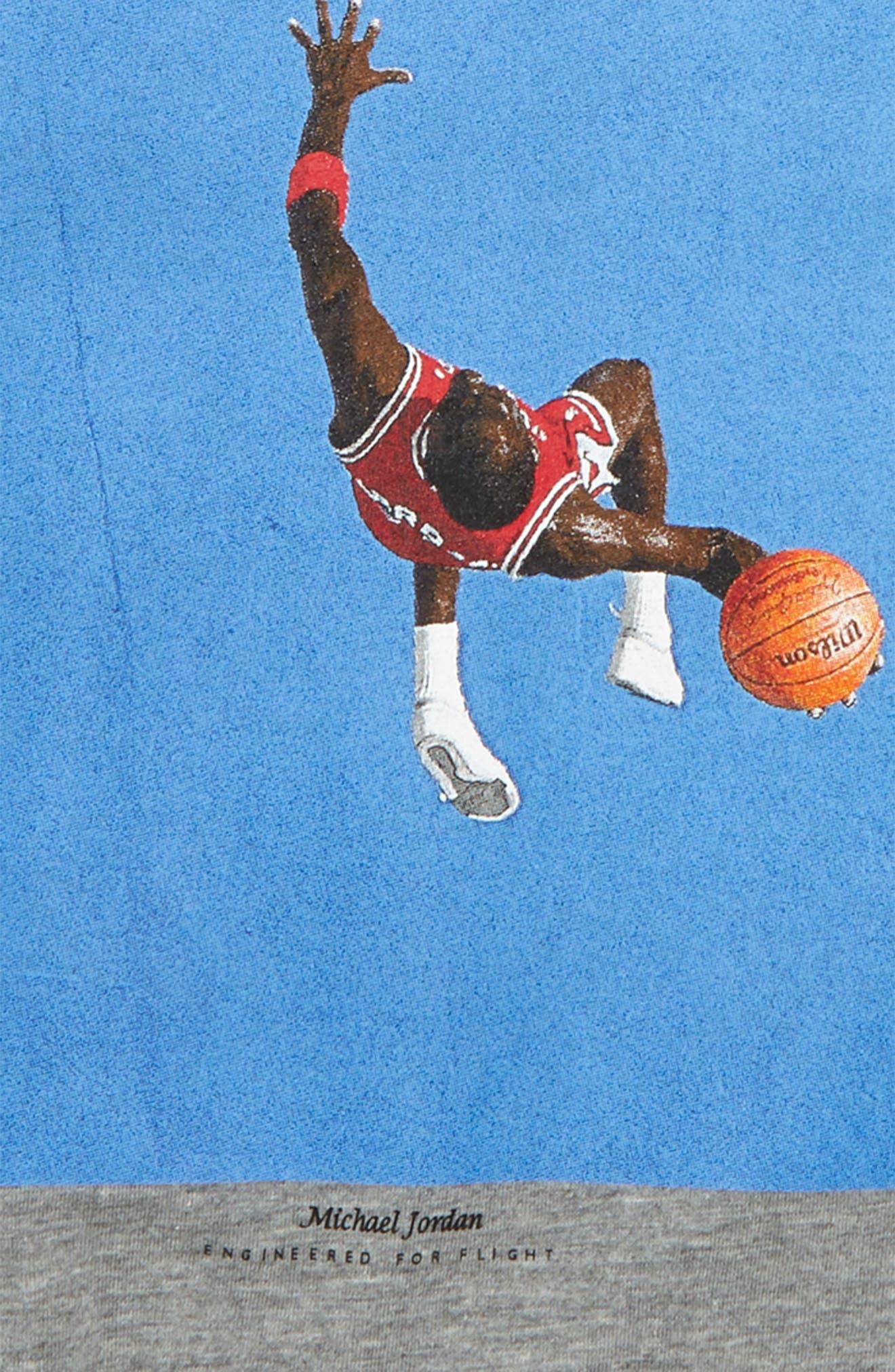 Nike Jordan MJ Dunk Photo T-Shirt,                             Alternate thumbnail 2, color,                             Carbon Heather