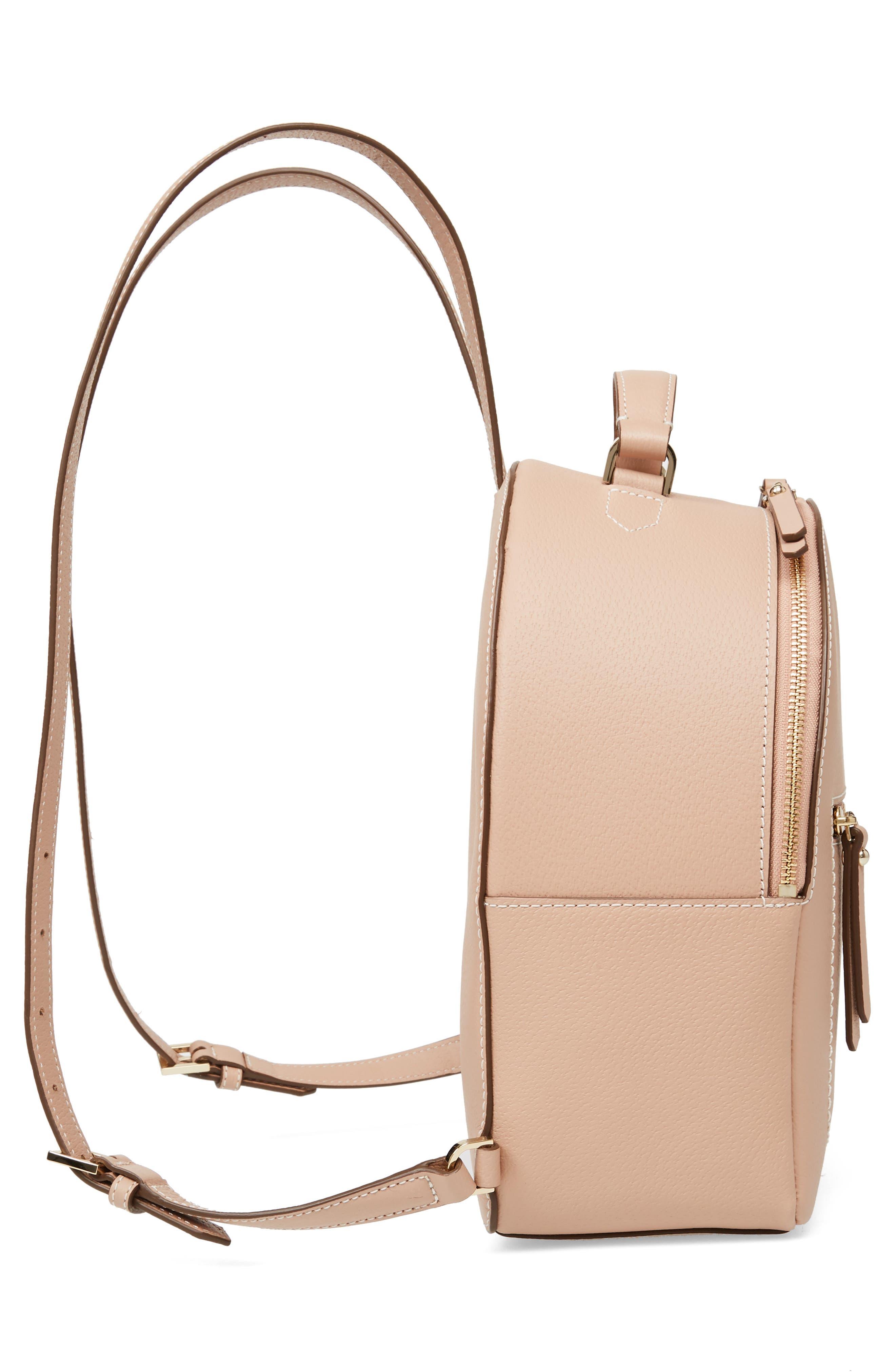 thompson street - brooke leather backpack,                             Alternate thumbnail 6, color,                             Ginger Tea