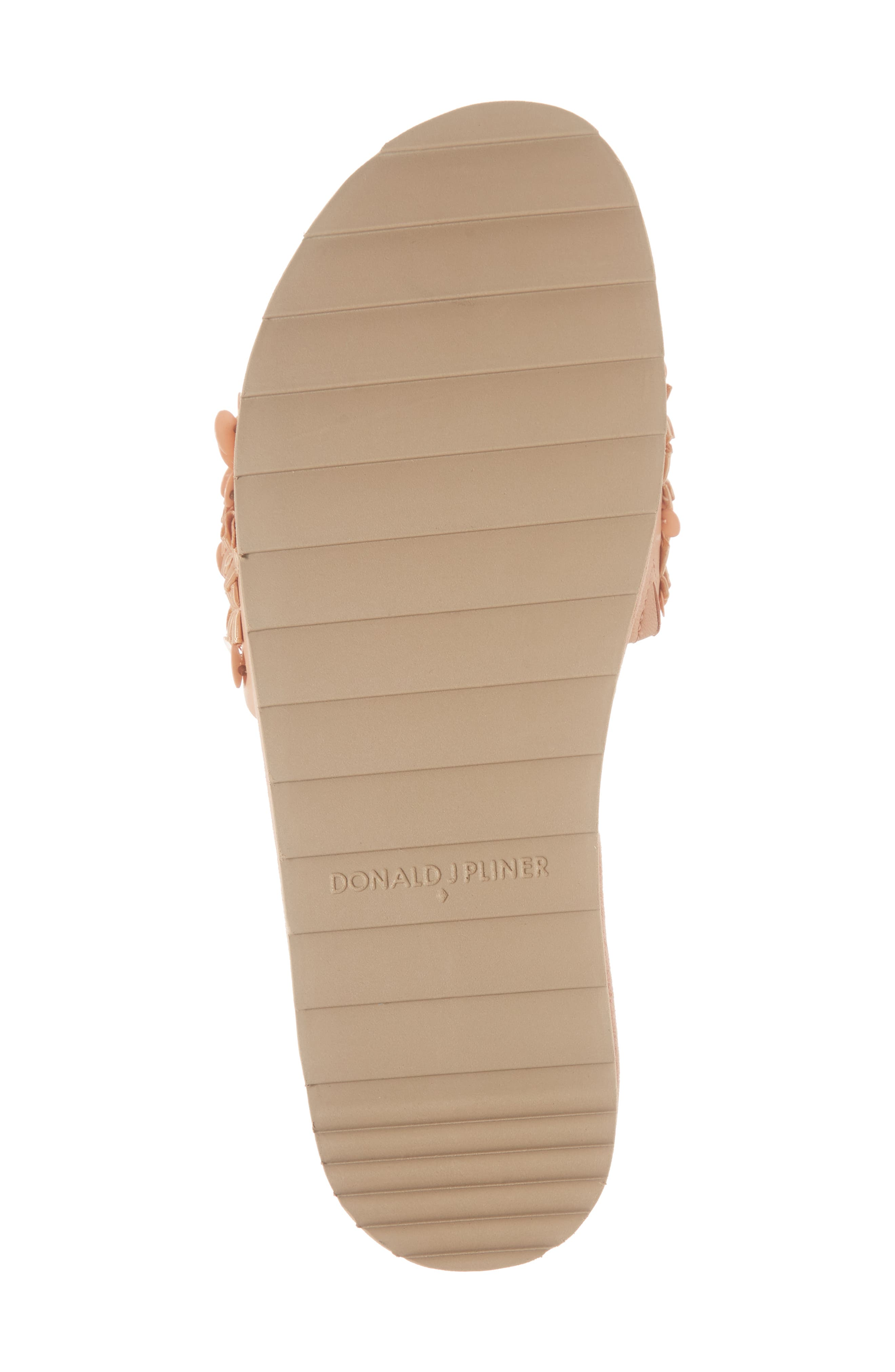 Cava Slide Sandal,                             Alternate thumbnail 3, color,                             Peony Leather