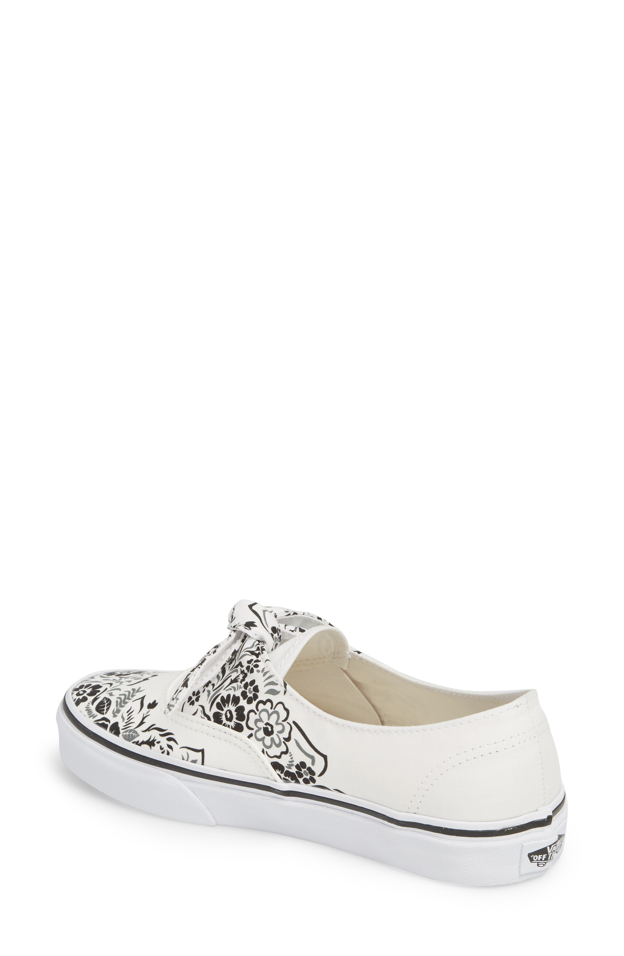 UA Authentic Knotted Floral Bandana Slip-On Sneaker,                             Alternate thumbnail 2, color,                             Marshmallow