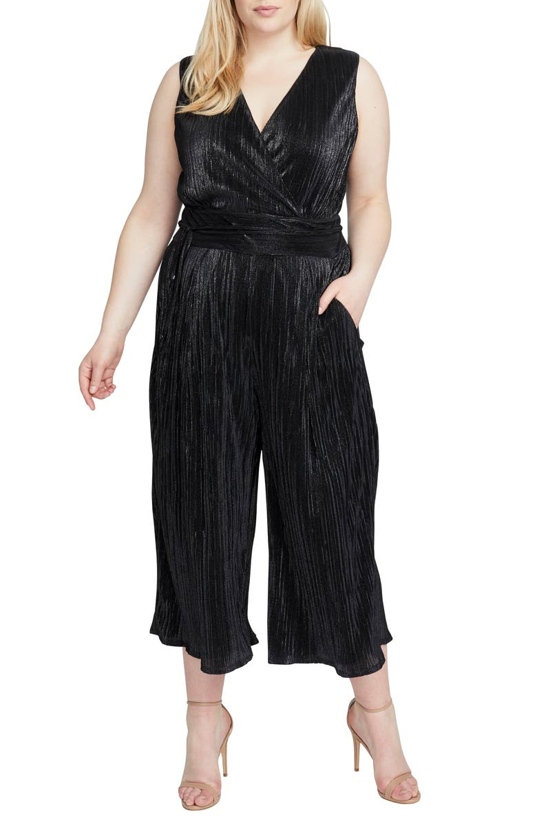 Sleeveless Metallic Jumpsuit