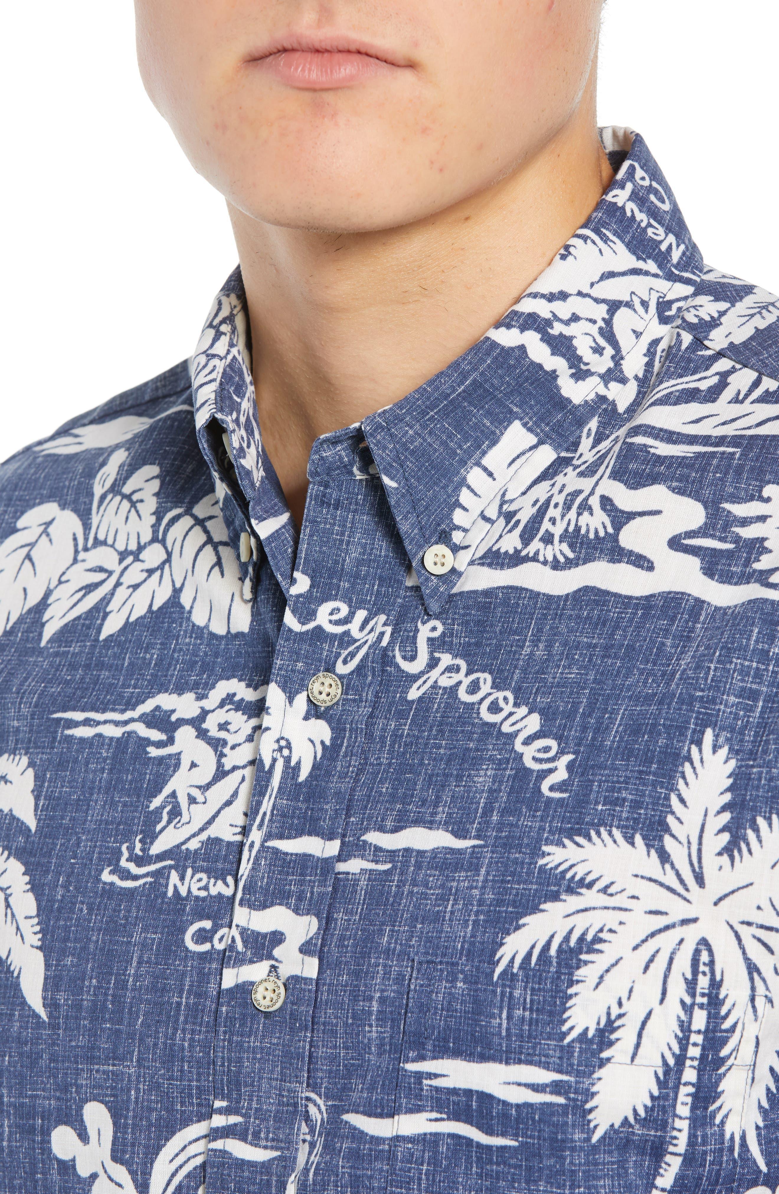 My Private Isle Regular Fit Sport Shirt,                             Alternate thumbnail 2, color,                             Blue