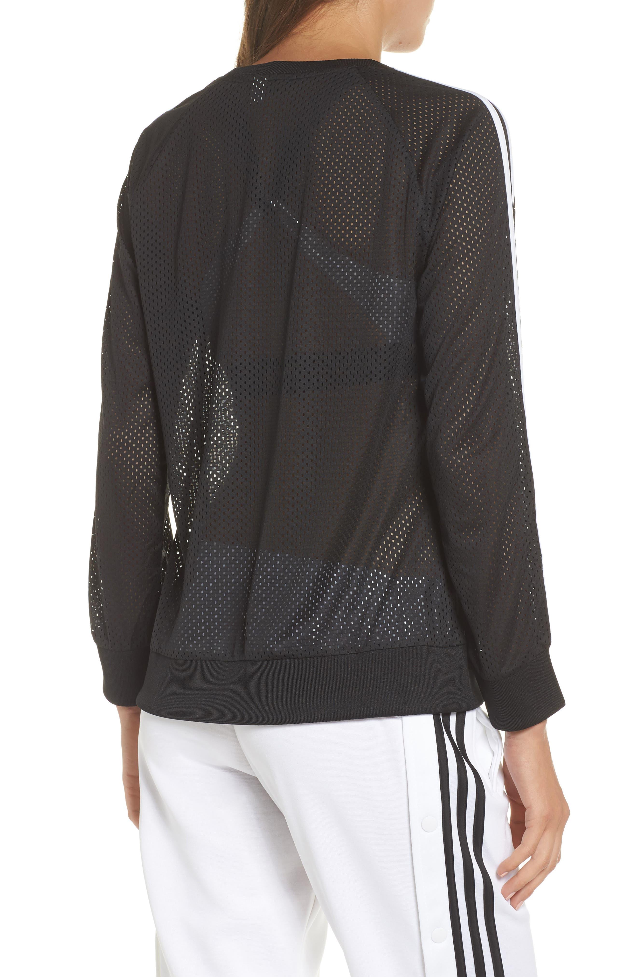 Essentials Mesh Sweatshirt,                             Alternate thumbnail 2, color,                             Black