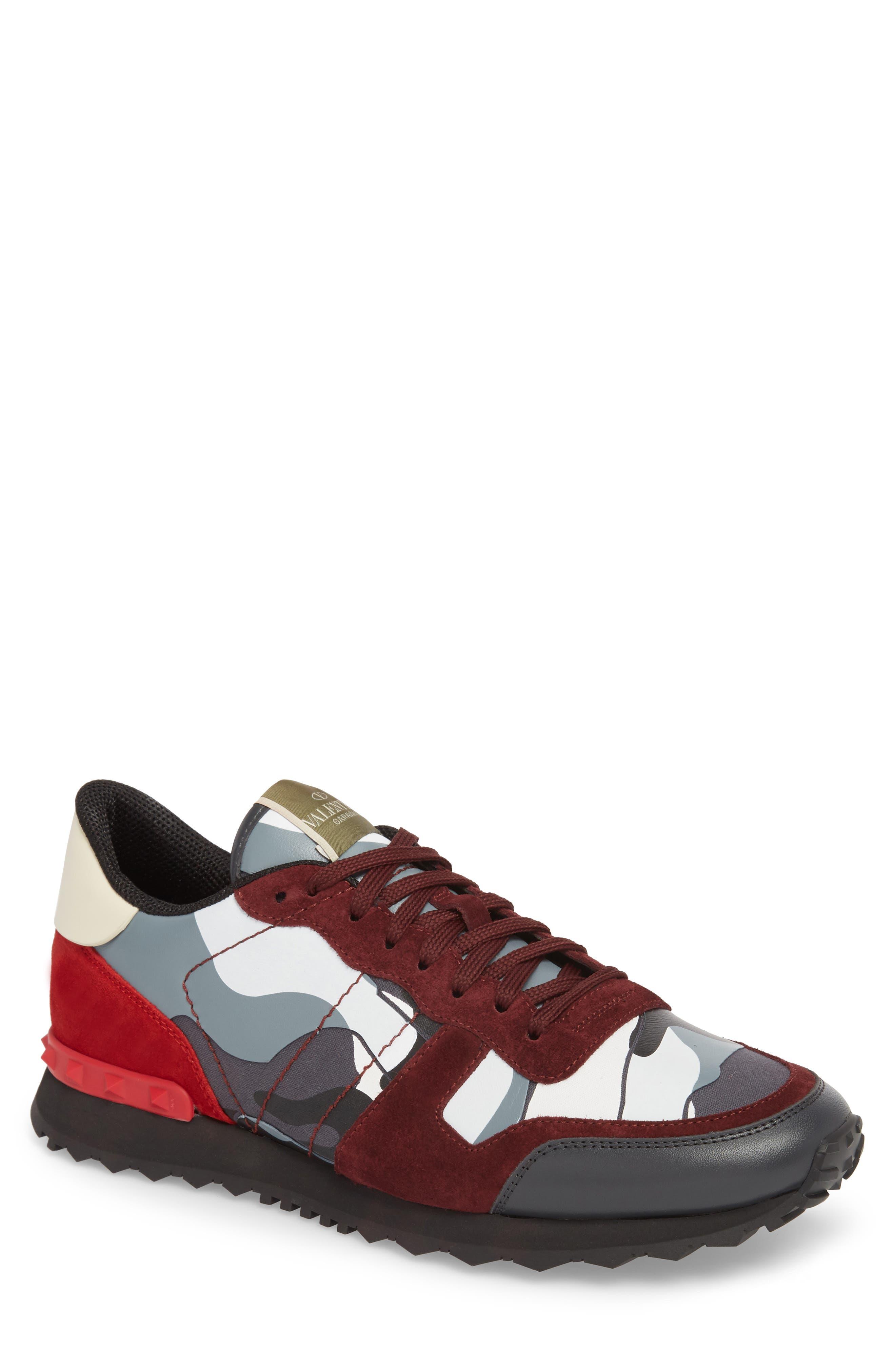 Camo Rockrunner Sneaker,                             Main thumbnail 1, color,                             Rubin/ Dark Grey