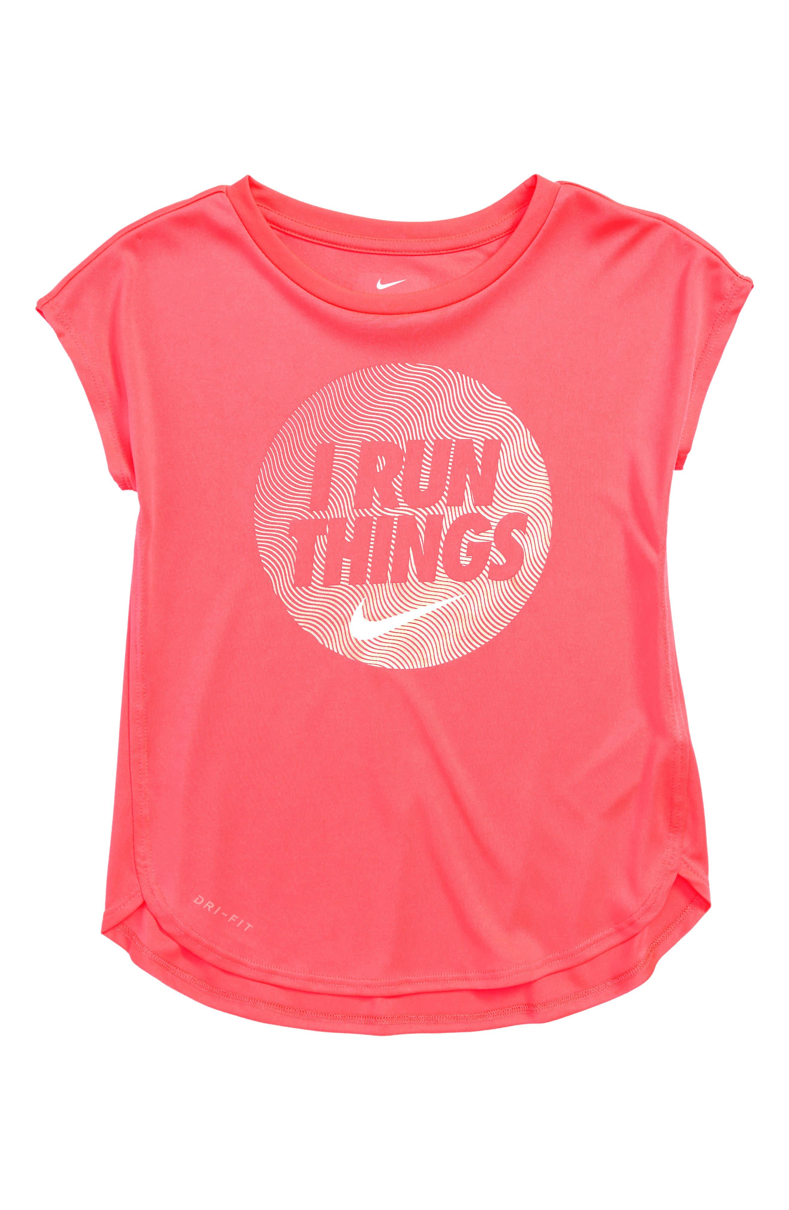 Dry I Run Things Tee,                             Main thumbnail 1, color,                             Racer Pink