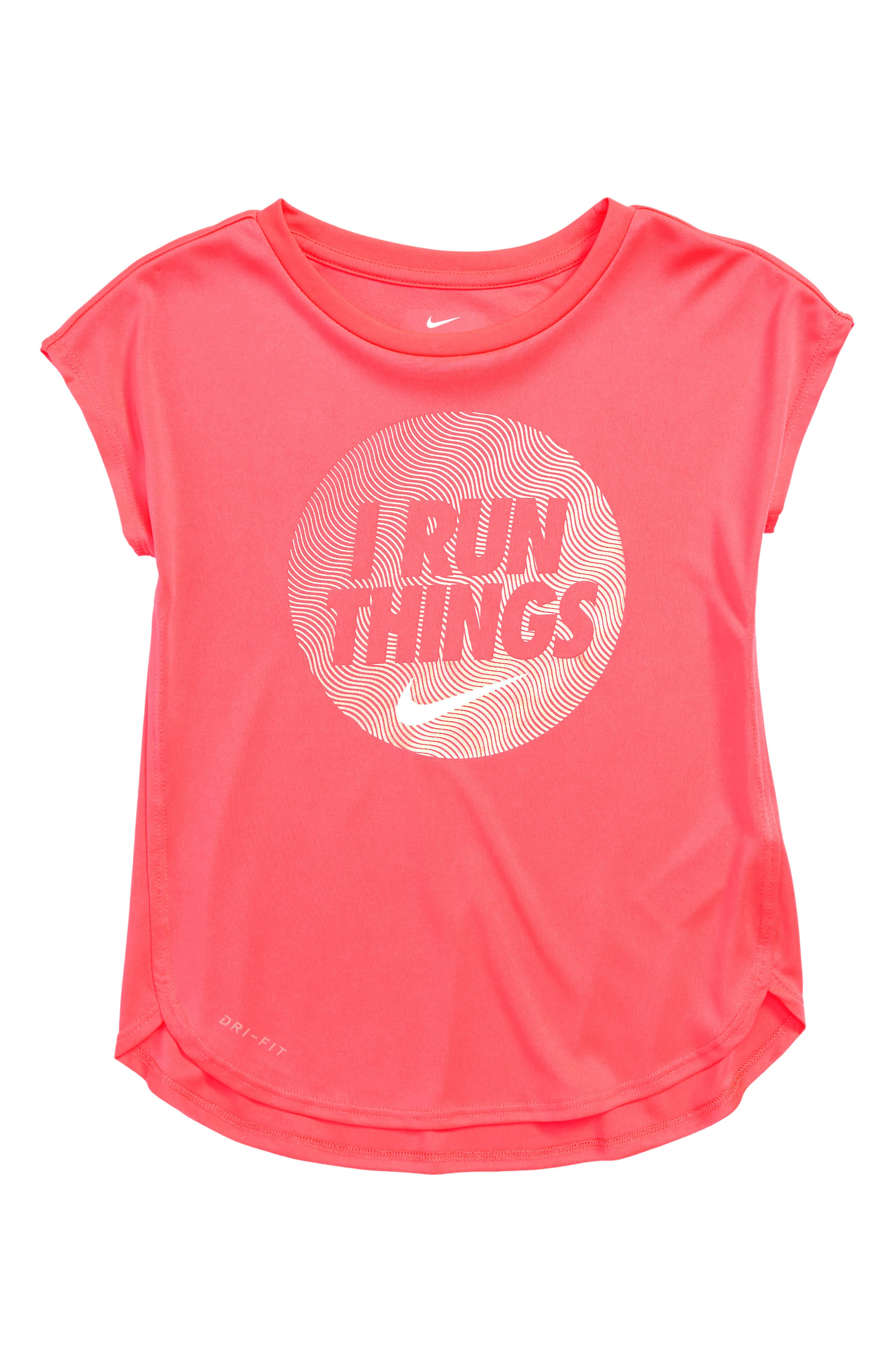 Dry I Run Things Tee,                         Main,                         color, Racer Pink