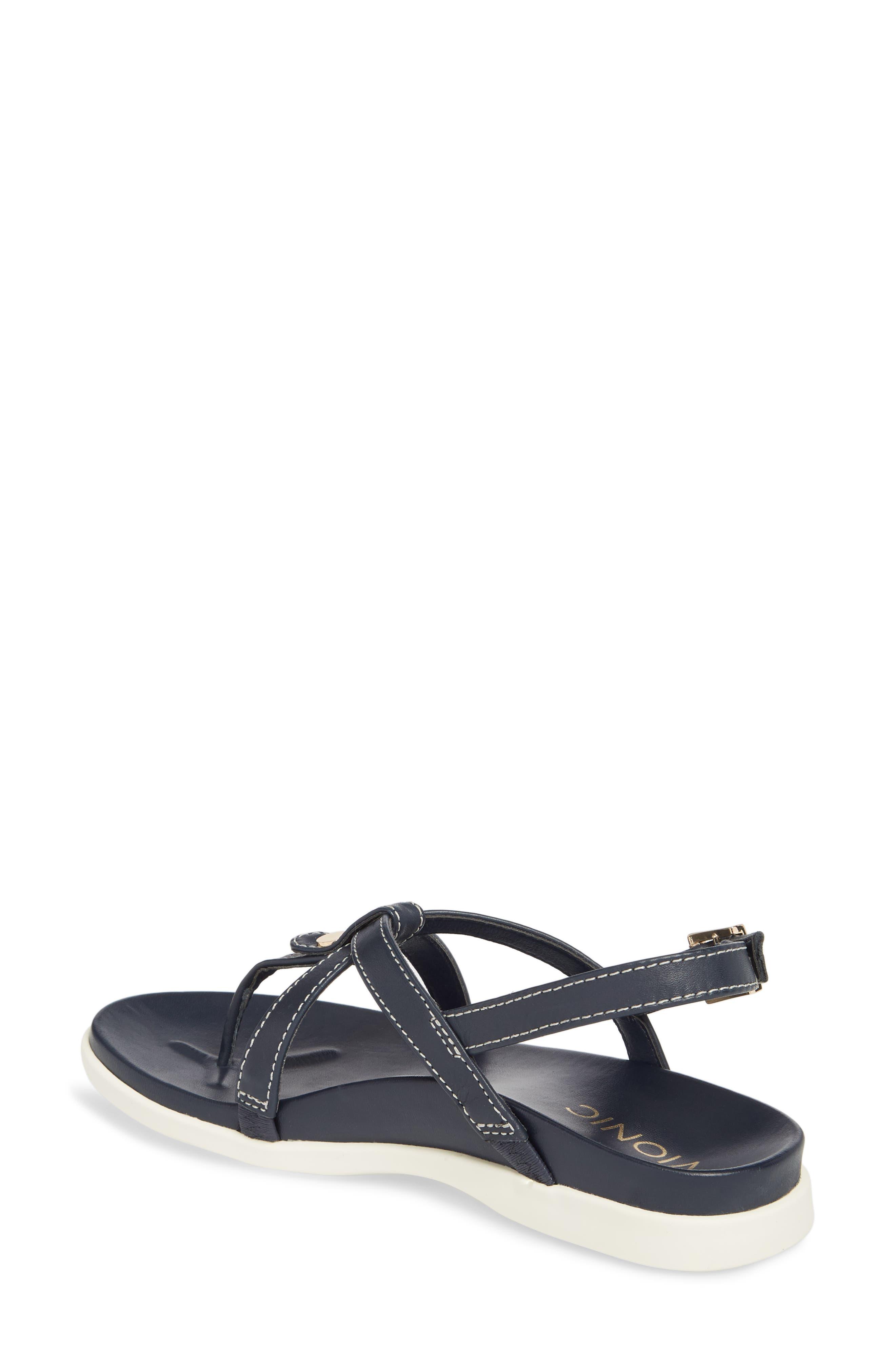 Veranda Orthaheel<sup>®</sup> Sandal,                             Alternate thumbnail 2, color,                             Navy Leather