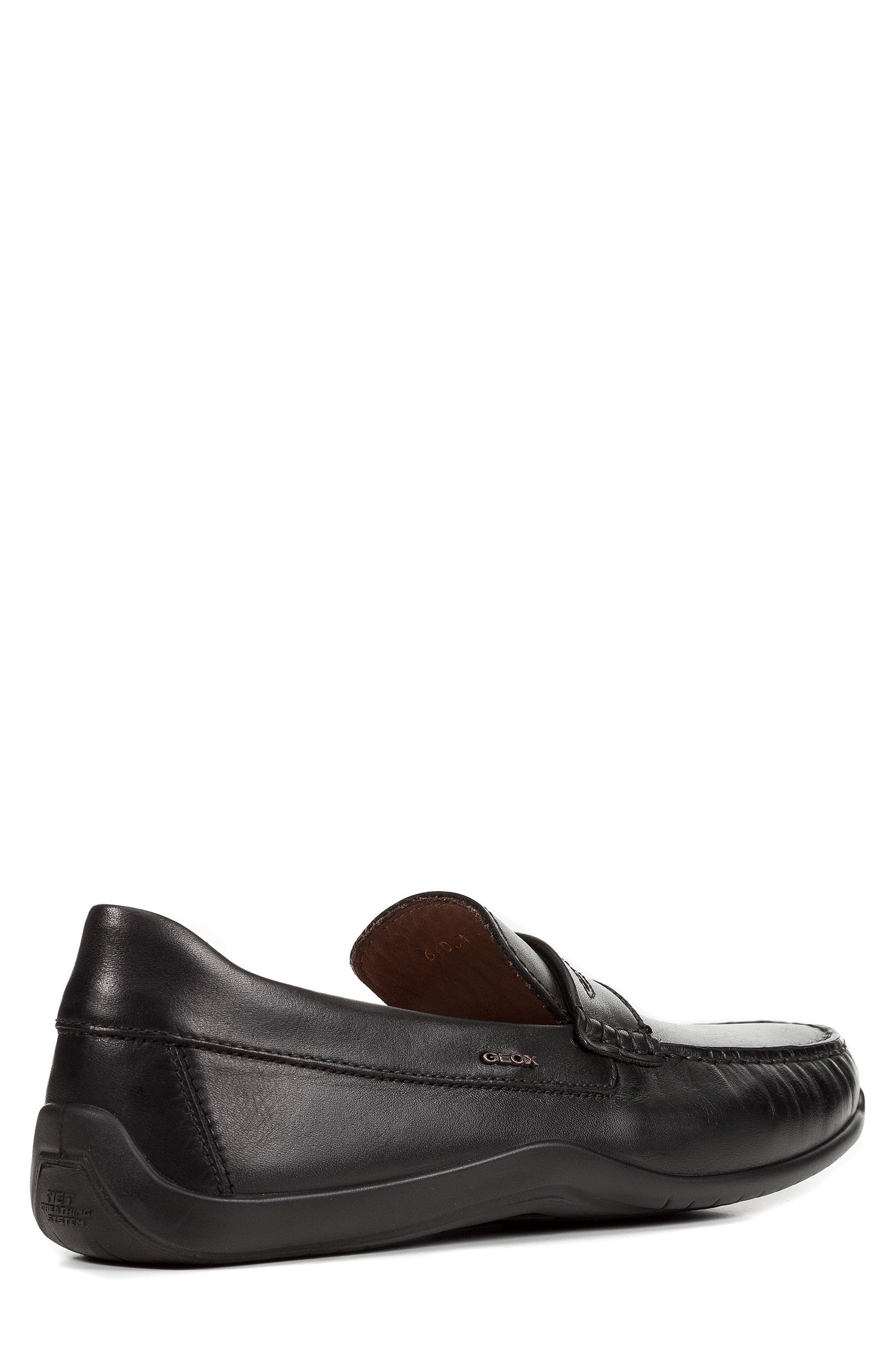 Xense Penny Loafer,                             Alternate thumbnail 2, color,                             Black Leather