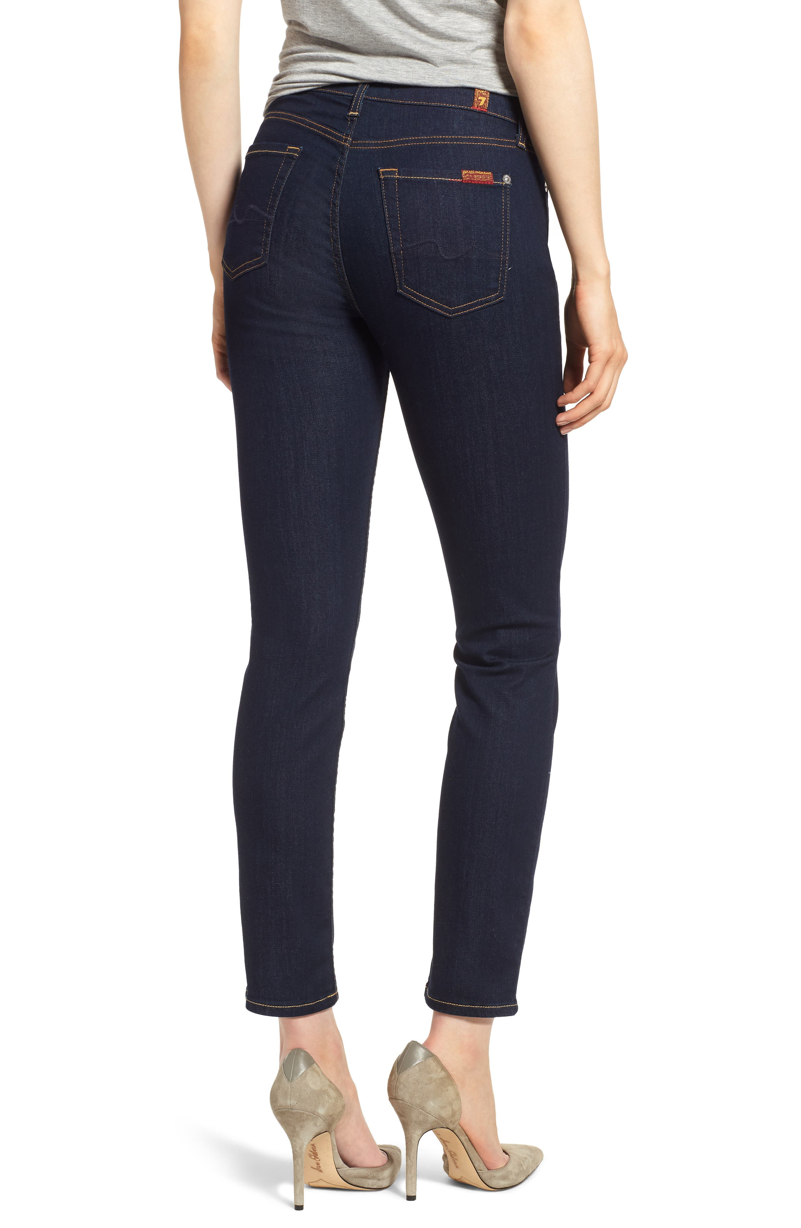 b(air) Roxanne Ankle Skinny Jeans,                             Alternate thumbnail 2, color,                             B(Air) Authentic Rinse