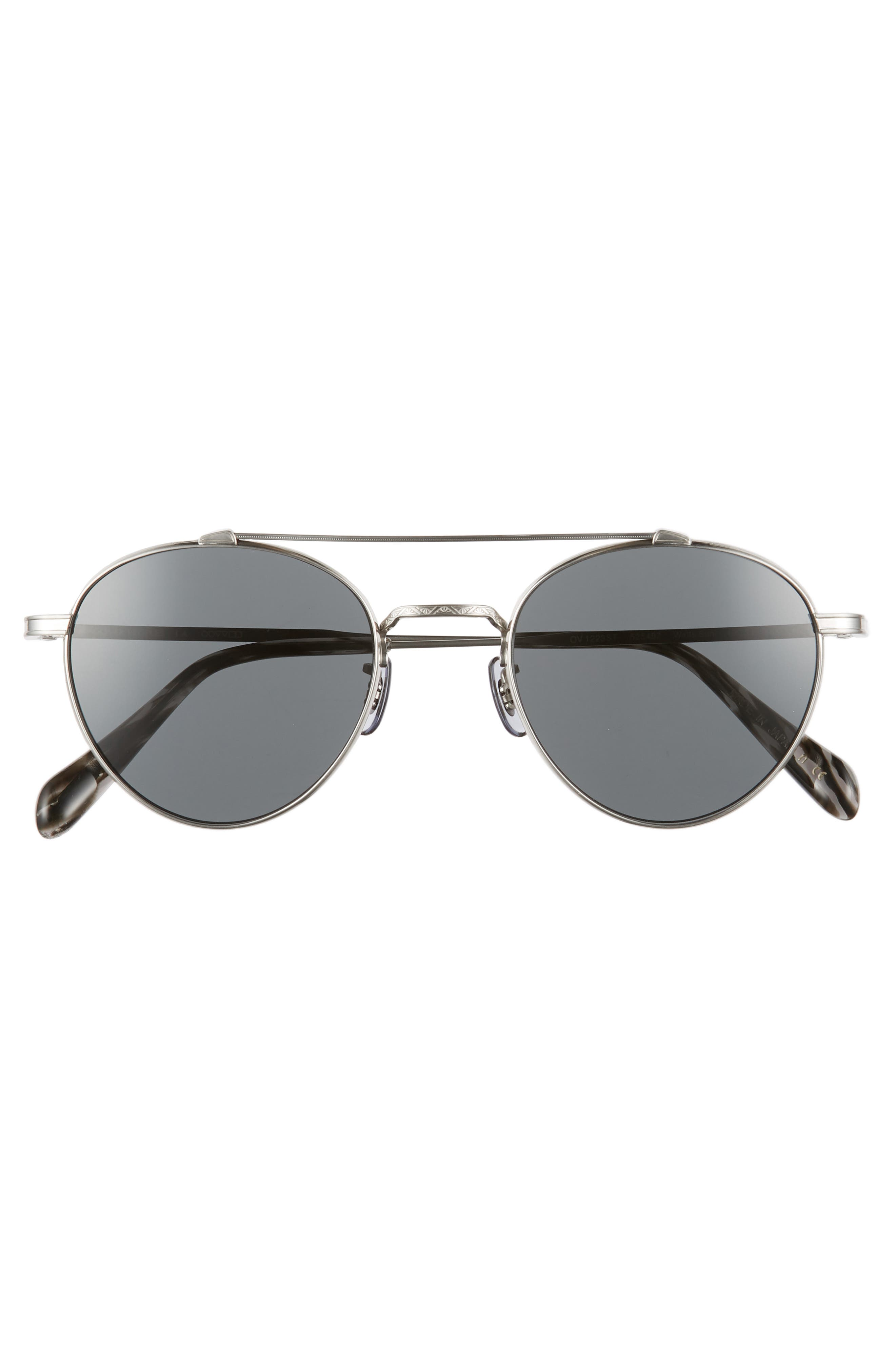Watts 49mm Round Sunglasses,                             Alternate thumbnail 2, color,                             Grey