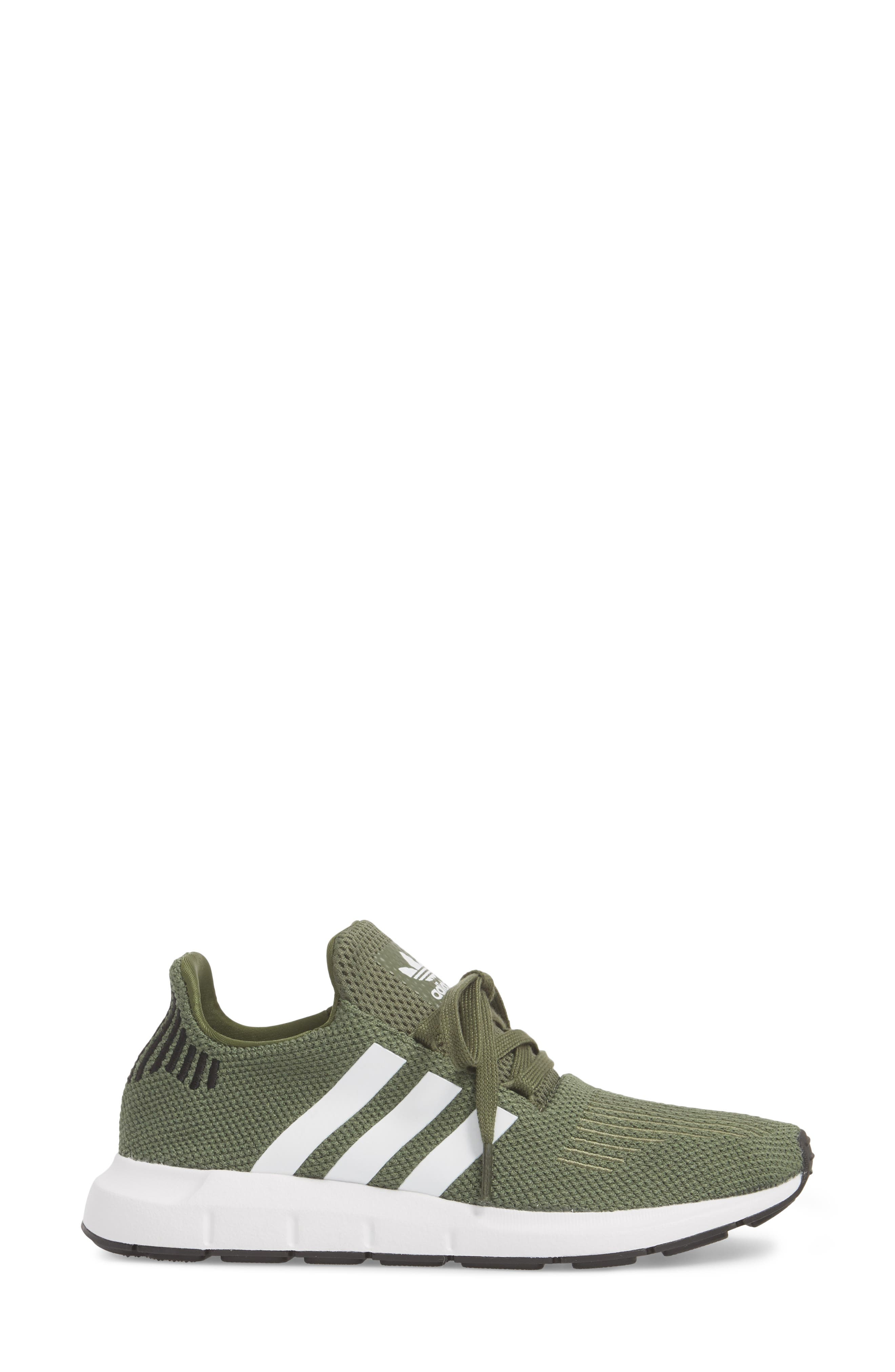 Swift Run Sneaker,                             Alternate thumbnail 4, color,                             Base Green/ White/ Black
