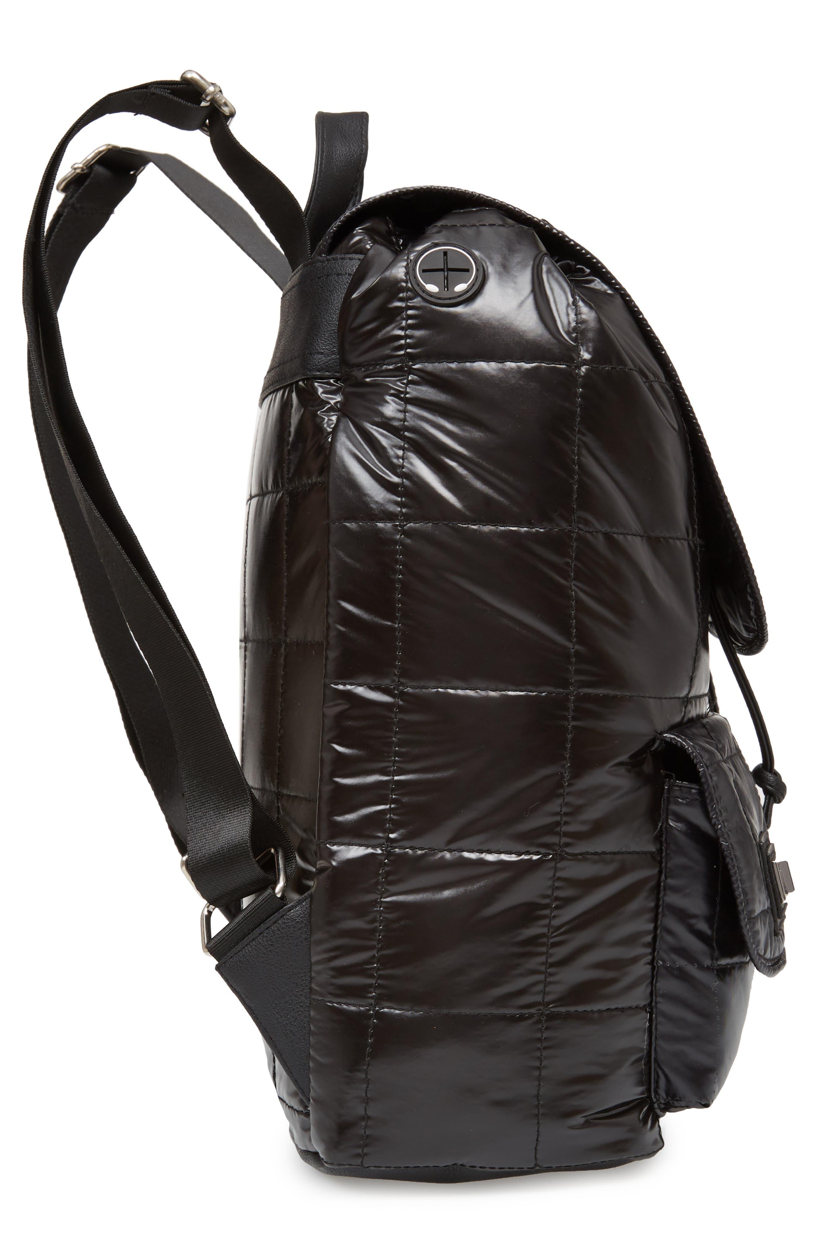 Puffer Backpack,                             Alternate thumbnail 3, color,                             Black
