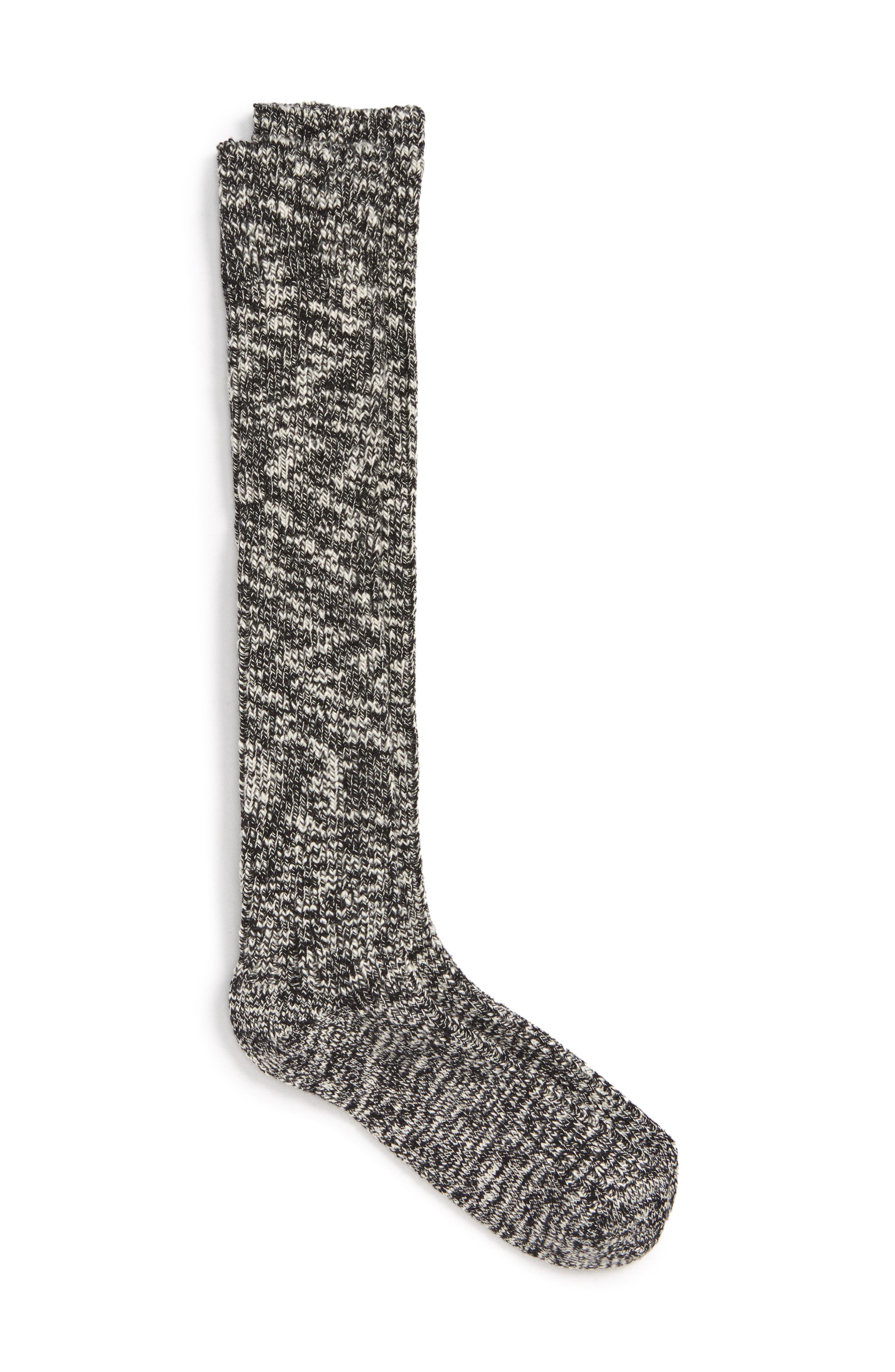 Rick Owens x Birkenstock Tall Socks,                         Main,                         color, Melange Heather