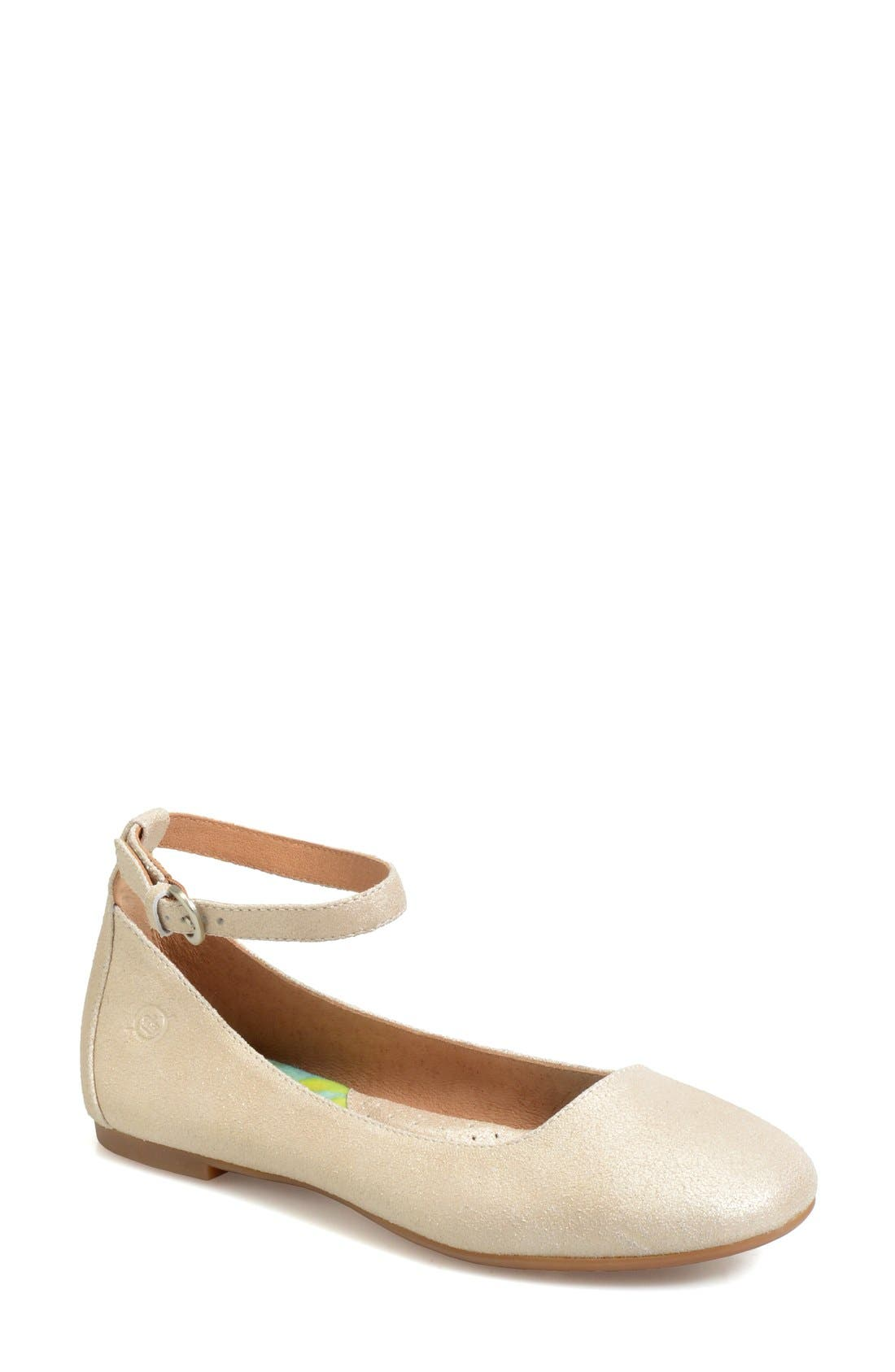 Alternate Image 1 Selected - Børn 'Remy' Ankle Strap Flat (Women)