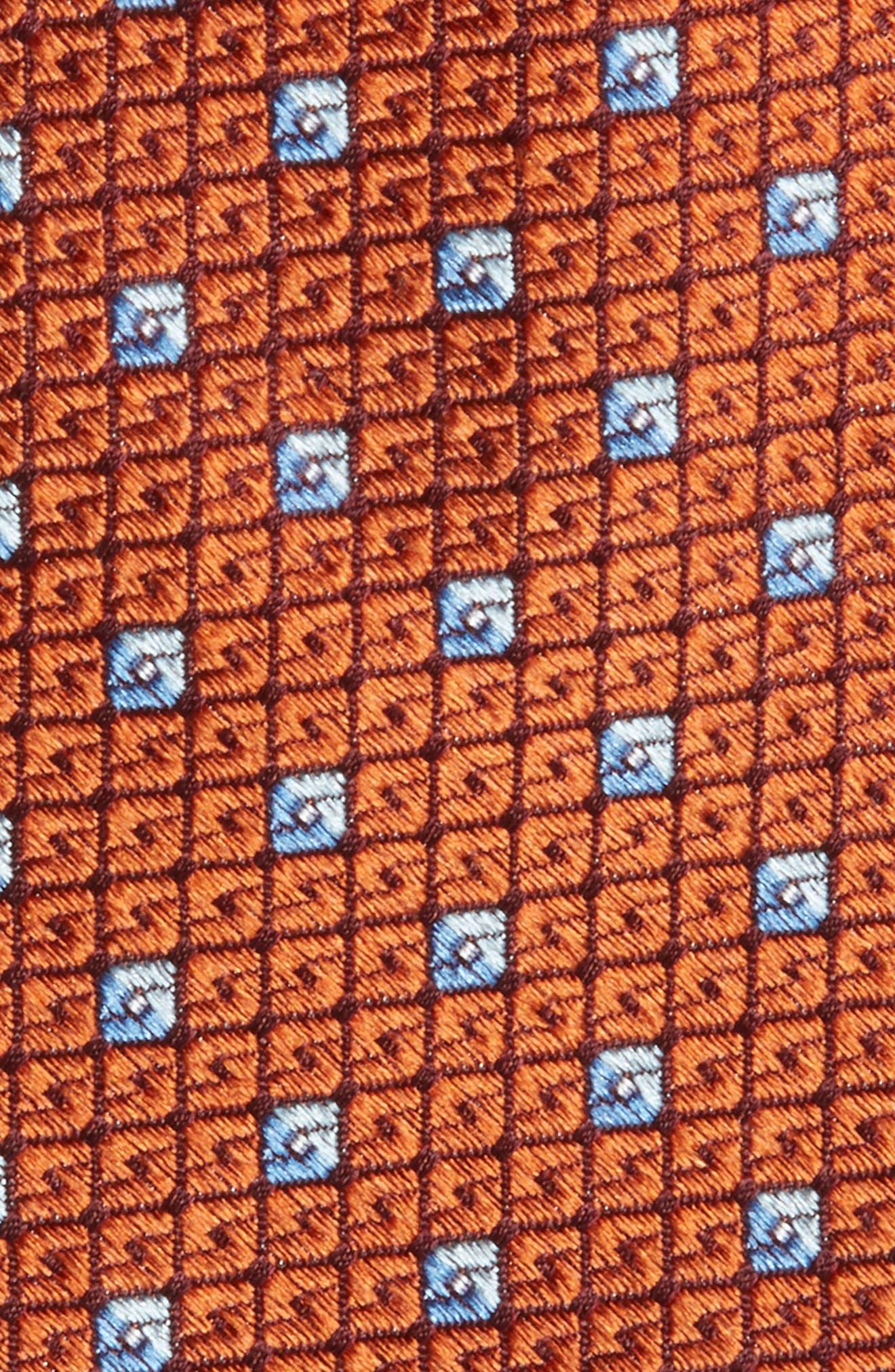 Mauro Neat Silk Tie,                             Alternate thumbnail 2, color,                             Orange