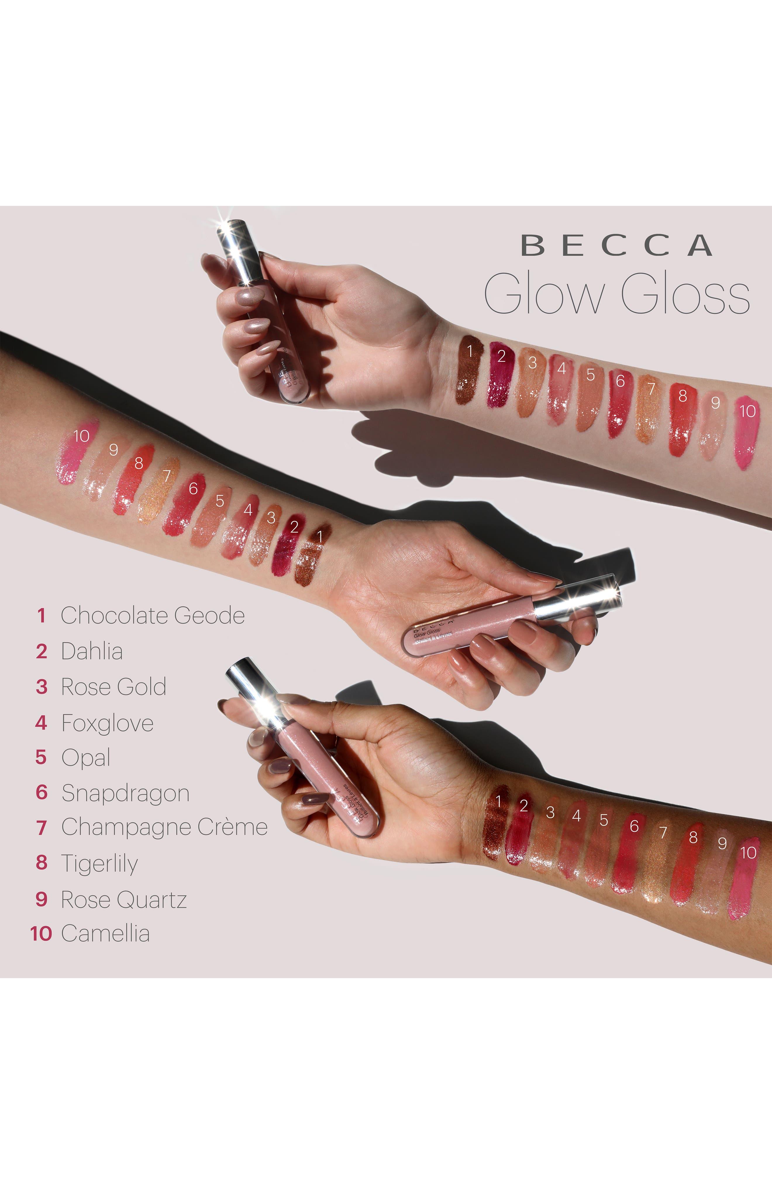 BECCA Glow Gloss Lip Gloss,                             Alternate thumbnail 4, color,                             Snapdragon