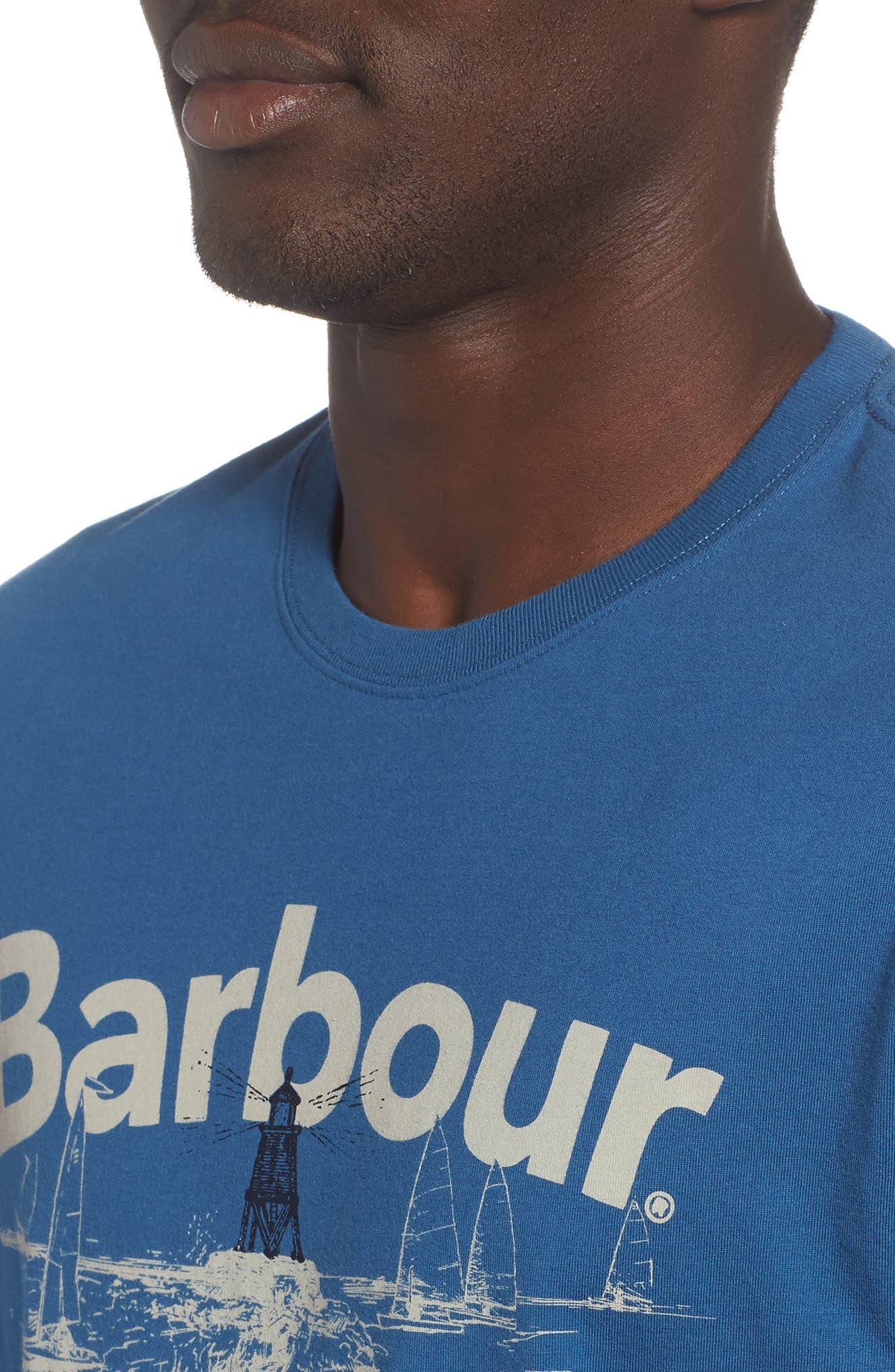 Waterline Graphic T-Shirt,                             Alternate thumbnail 4, color,                             Sea Blue