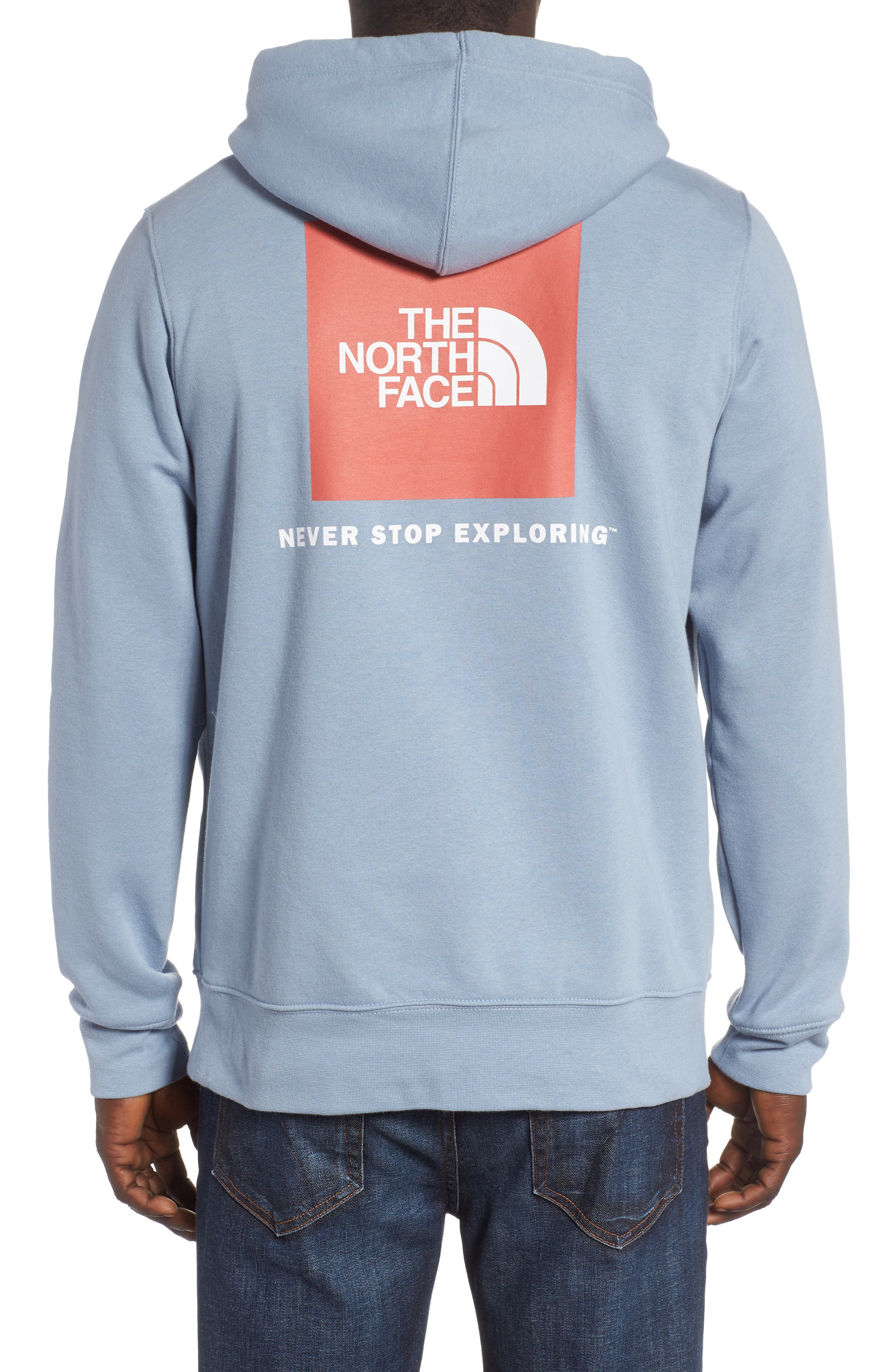 Red Box Hoodie,                             Alternate thumbnail 2, color,                             Gull Blue