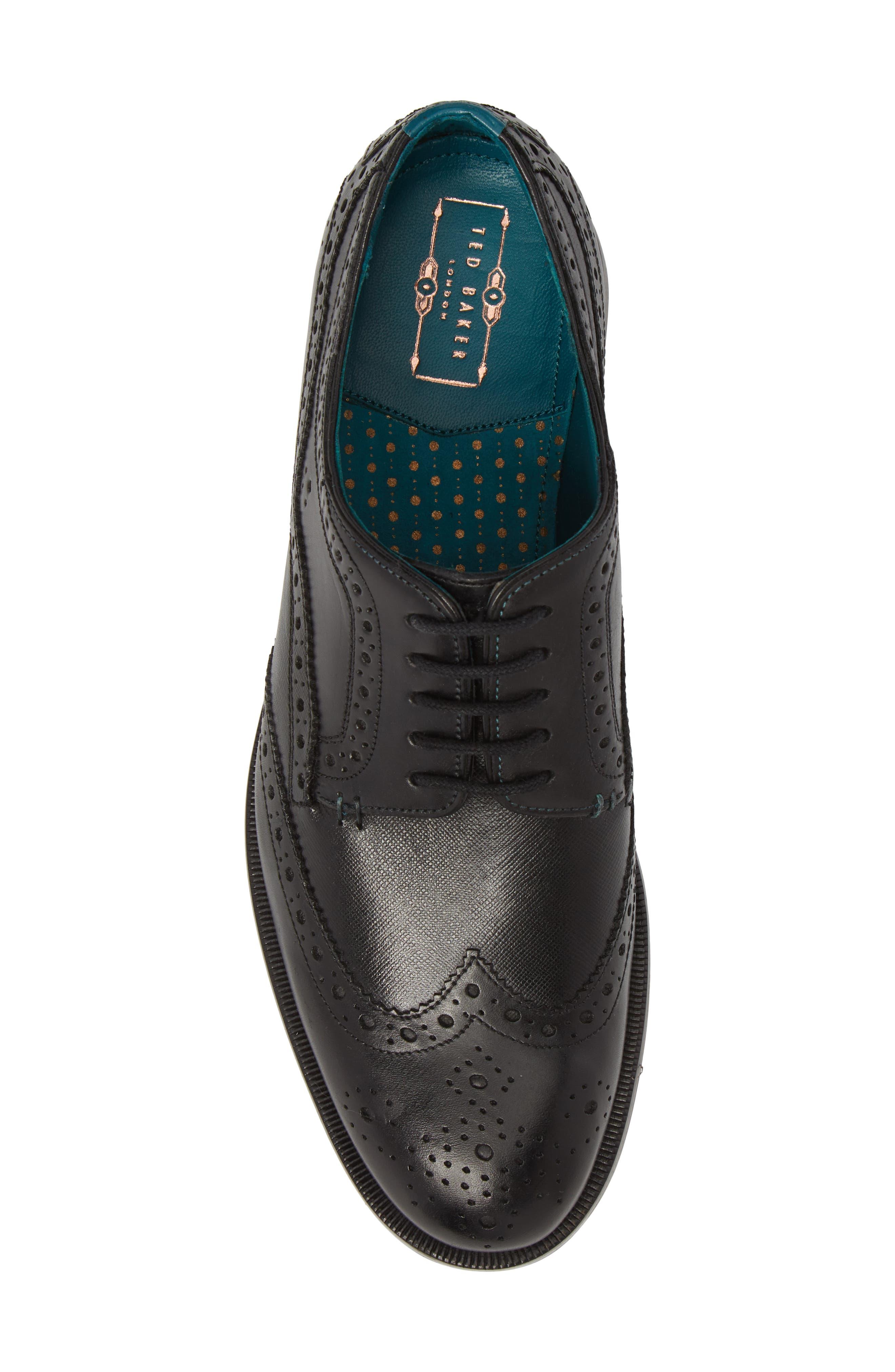 Senape Wingtip,                             Alternate thumbnail 3, color,                             Black Leather