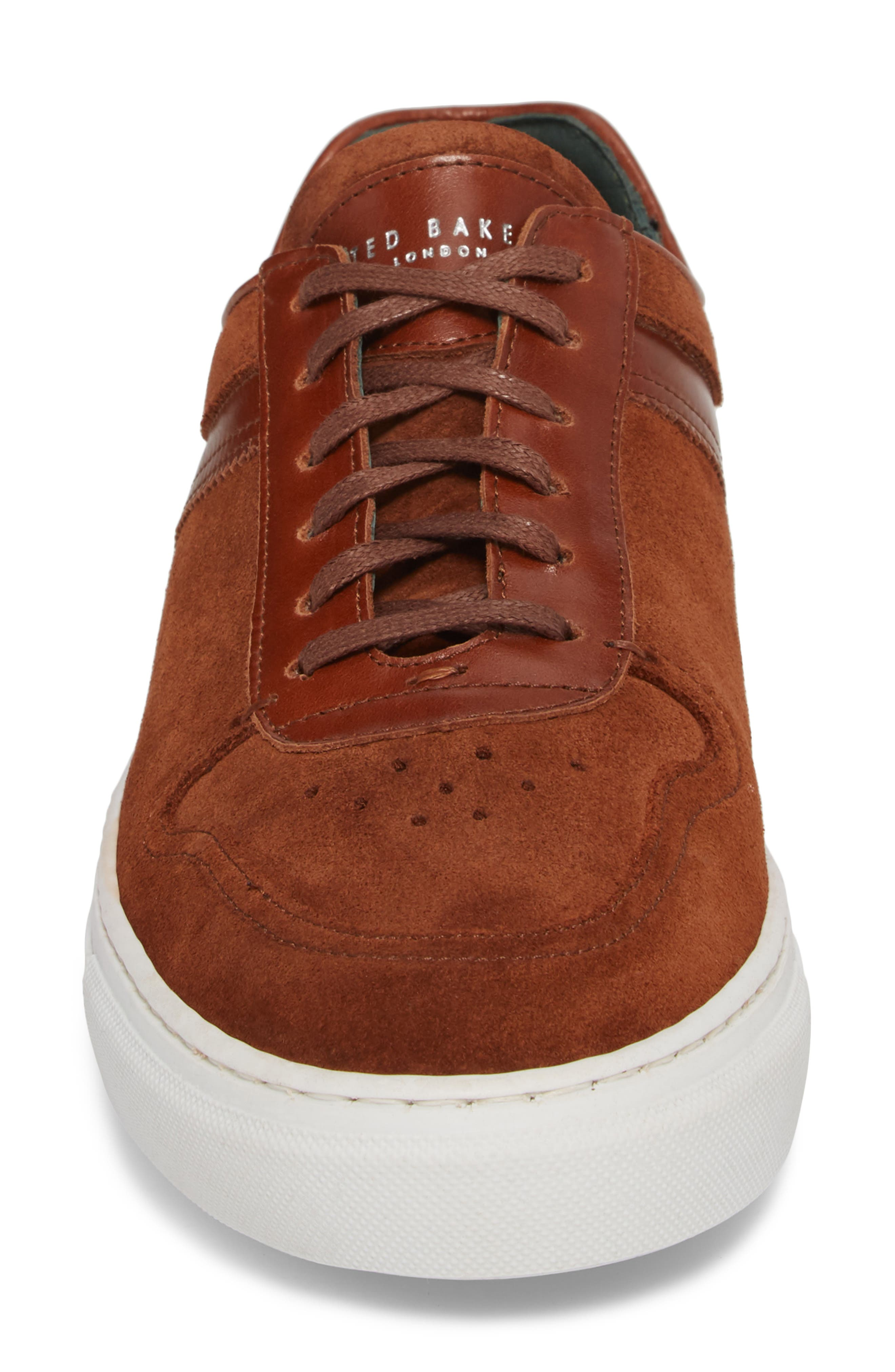 Burall Sneaker,                             Alternate thumbnail 6, color,                             Dark Tan Suede