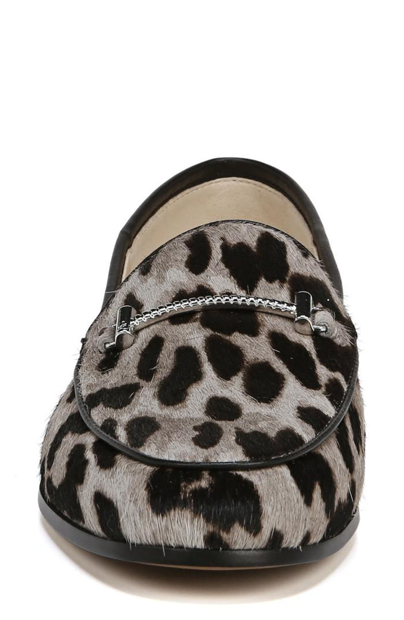 Lior Genuine Calf Hair Loafer,                             Alternate thumbnail 5, color,                             Grey Multi Leopard Calf Hair