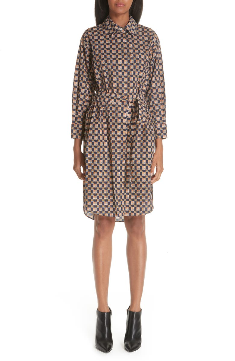 Isotto Checked Shirtdress