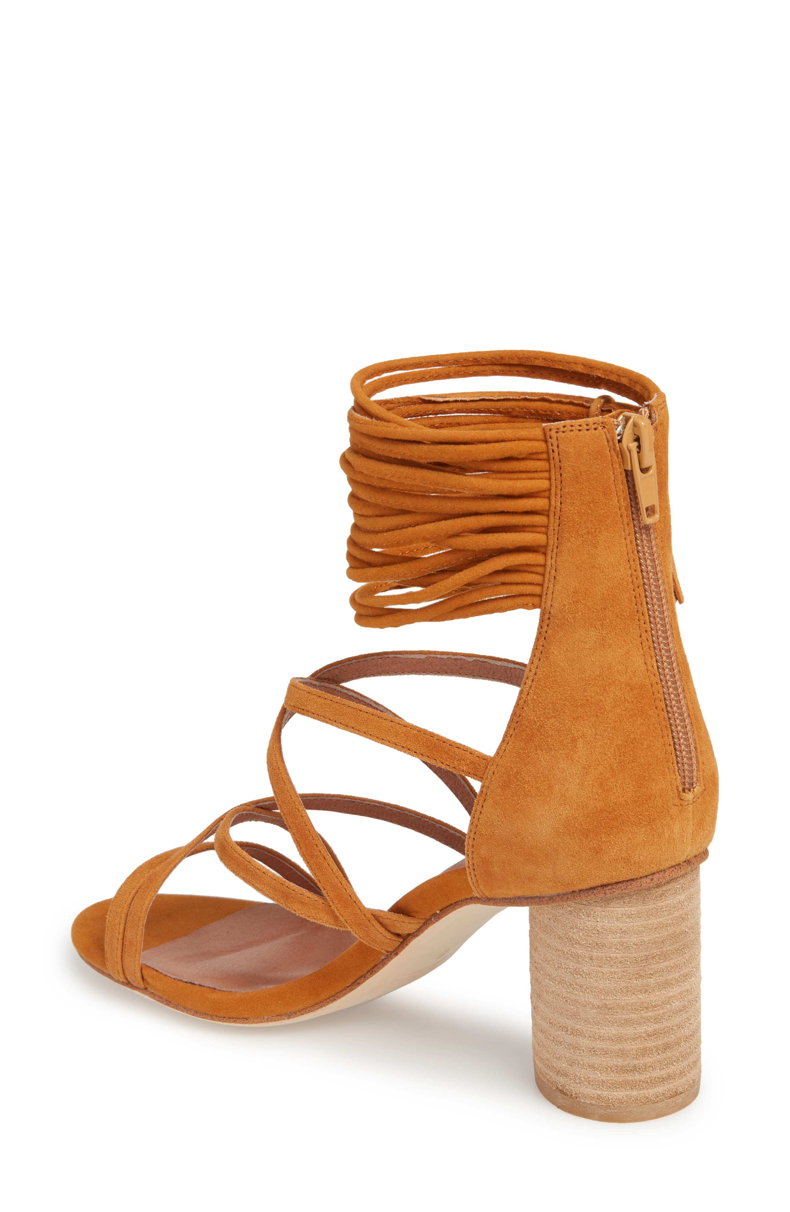 'Despina' Strappy Sandal,                             Alternate thumbnail 2, color,                             Mustard Suede