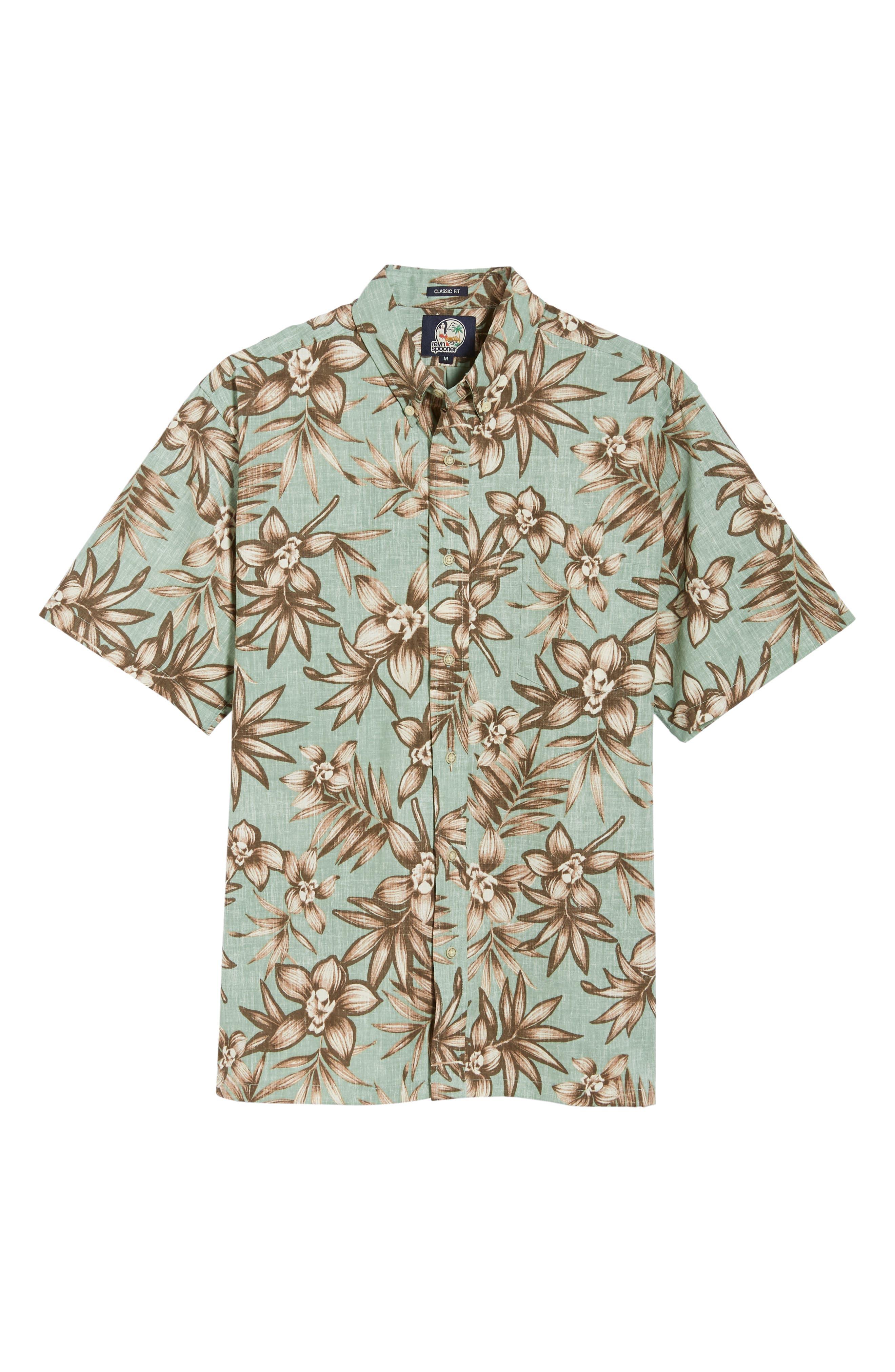Onishi Garden Regular Fit Sport Shirt,                             Alternate thumbnail 5, color,                             Seafoam