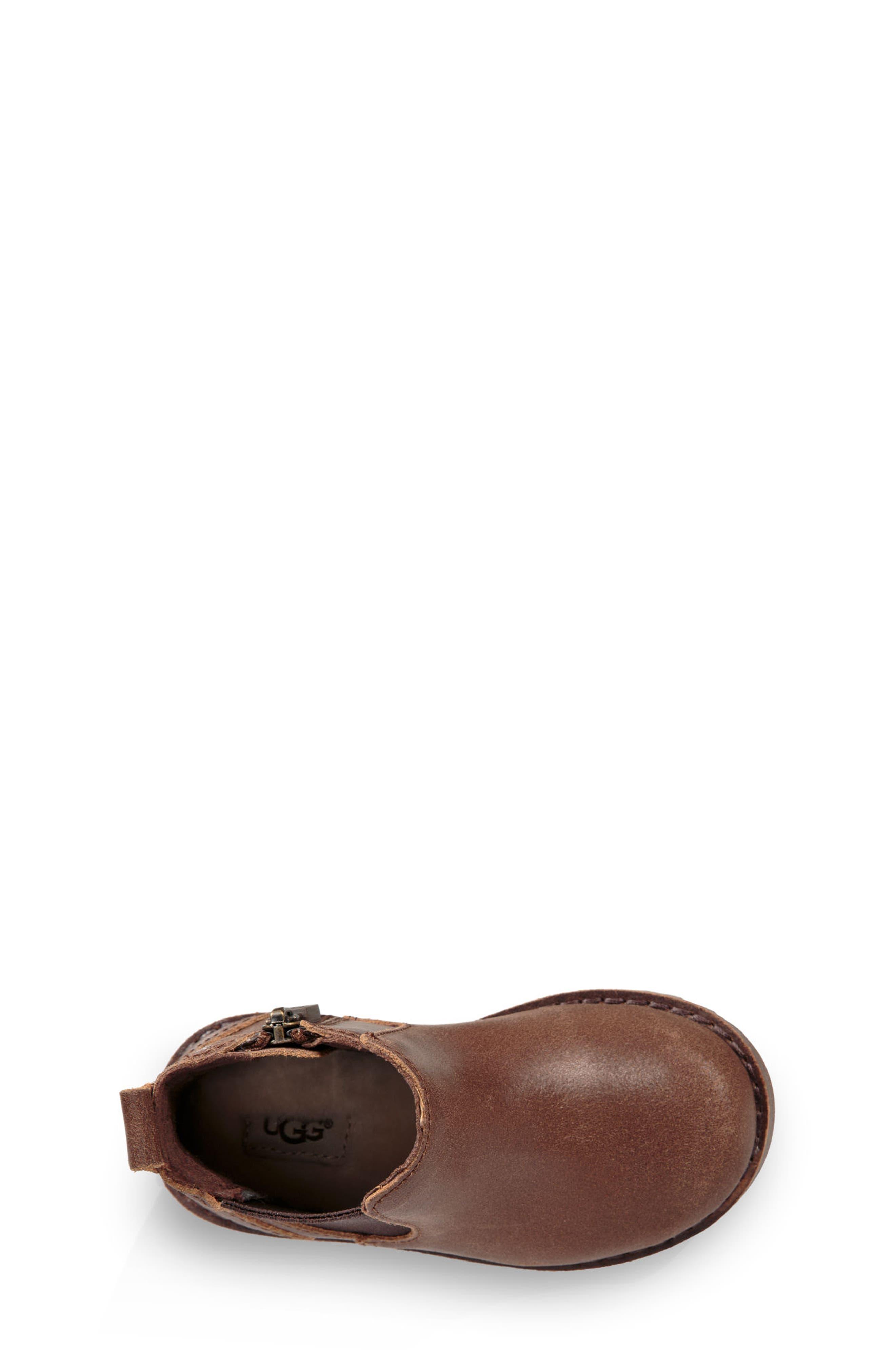 Callum Water Resistant Chelsea Boot,                             Alternate thumbnail 3, color,                             Chocolate Brown