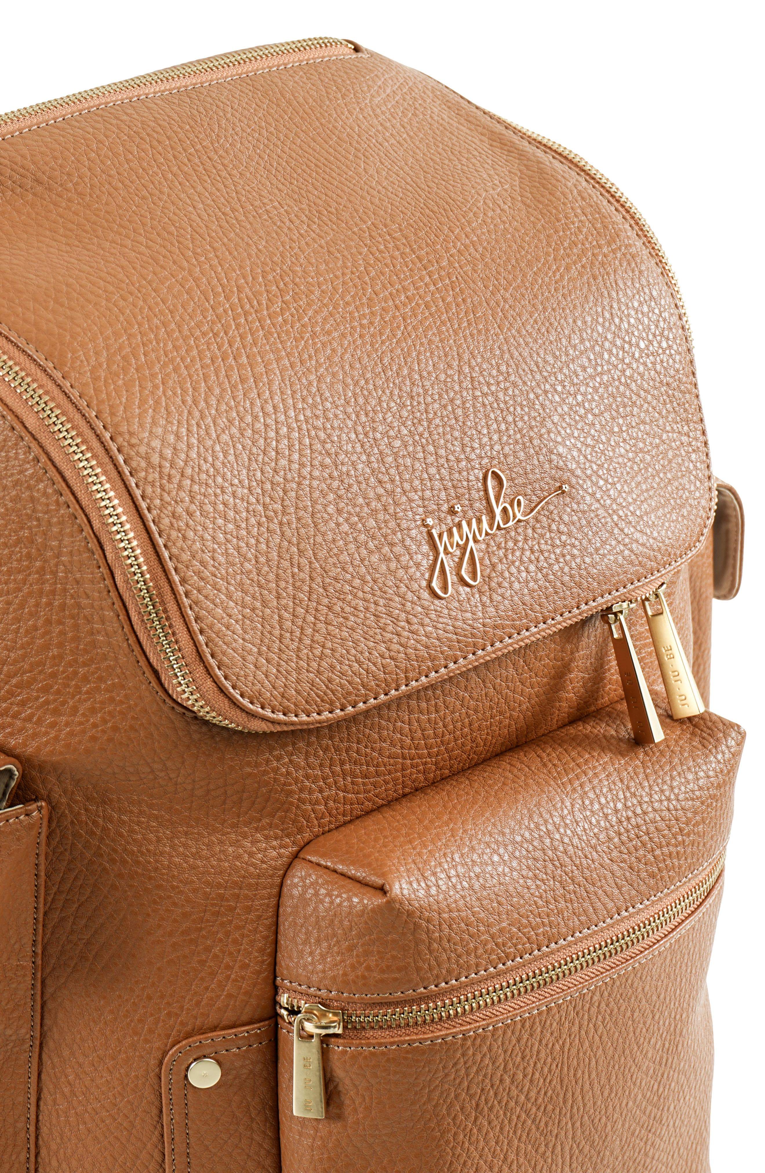 Ever Collection Forever Faux Leather Diaper Backpack,                             Alternate thumbnail 5, color,                             Brulee
