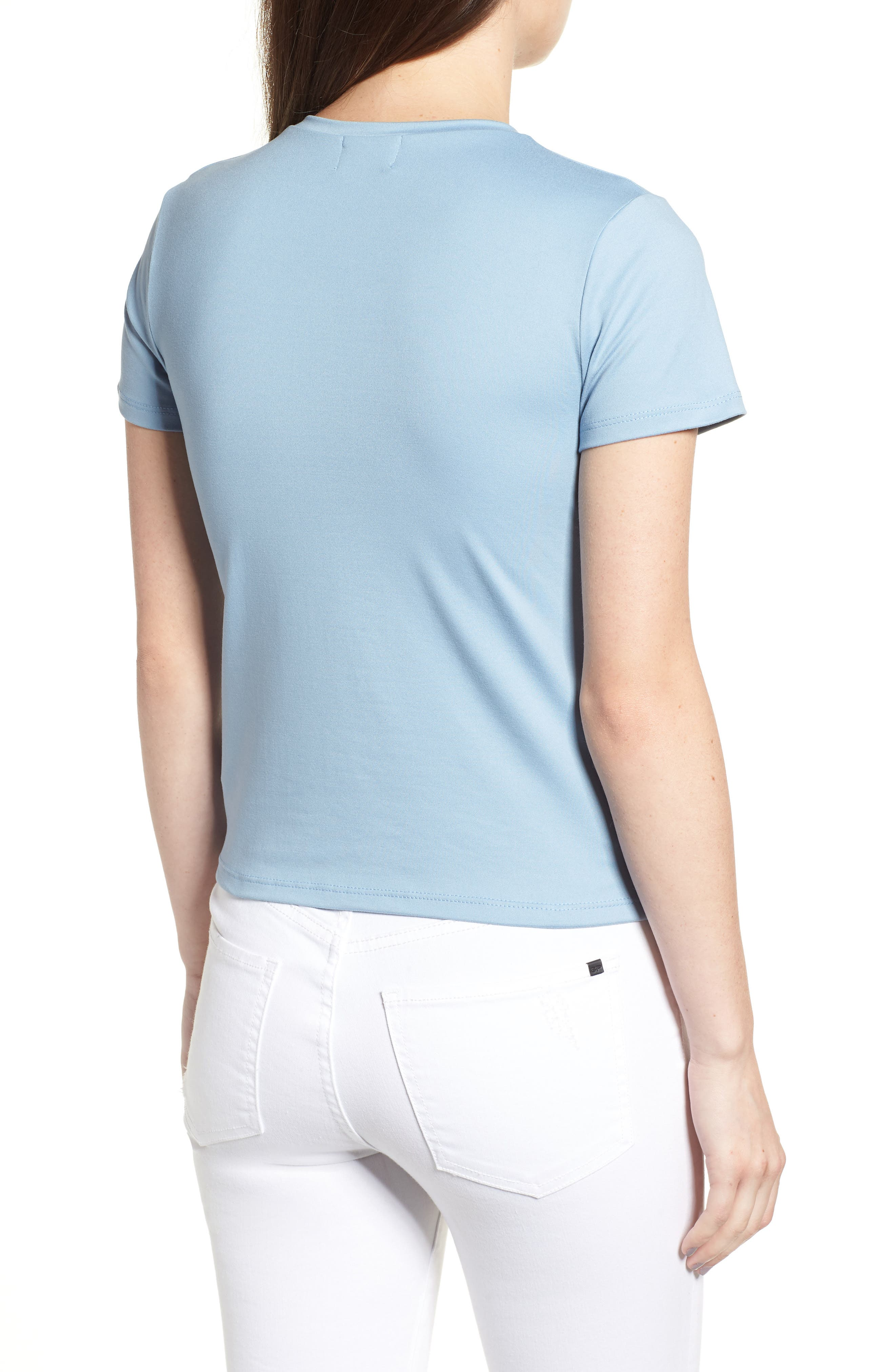 Fitted Tee,                             Alternate thumbnail 2, color,                             Chambray