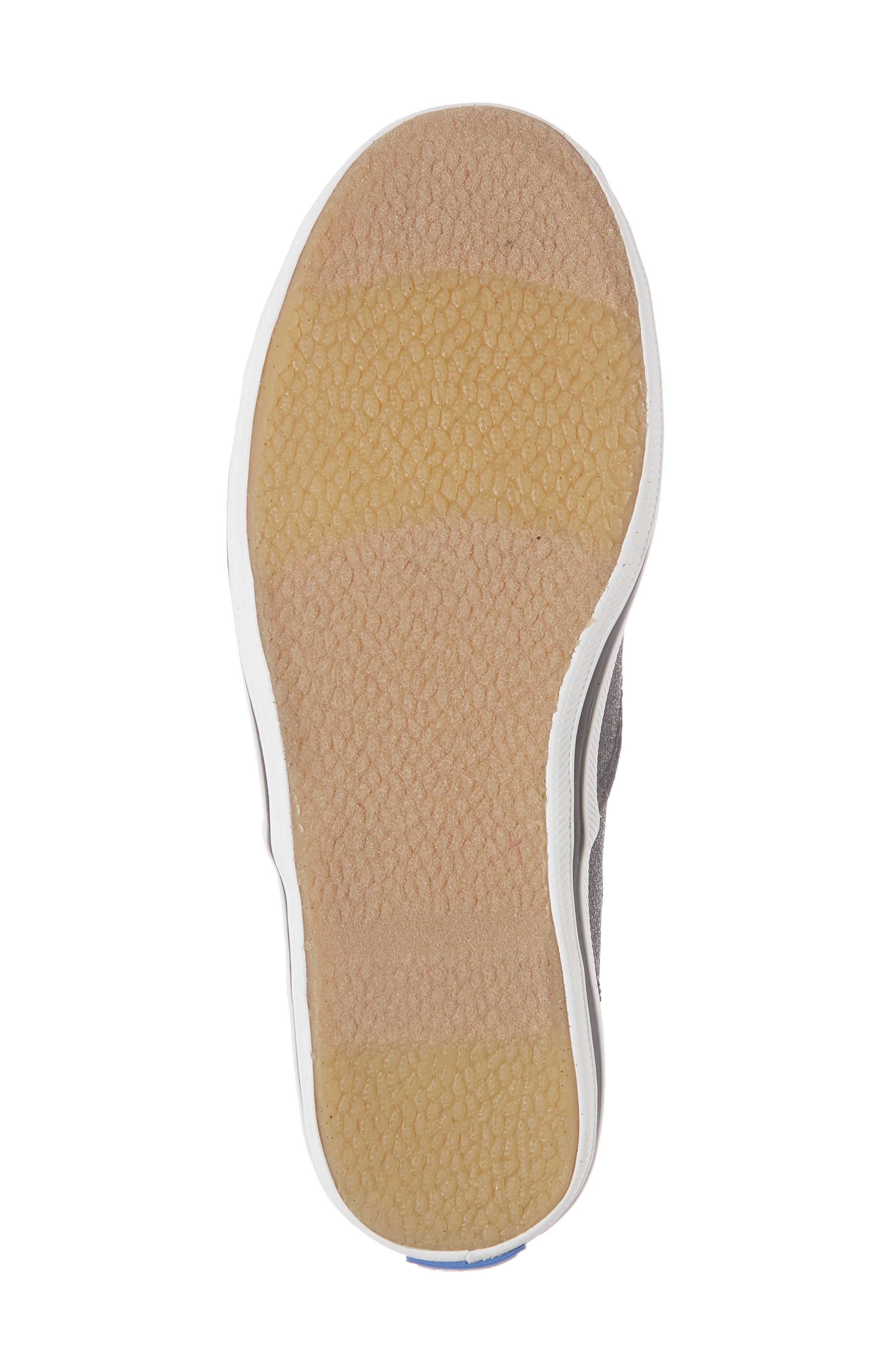 x kate spade new york Champion Glitter Sneaker,                             Alternate thumbnail 6, color,                             Black