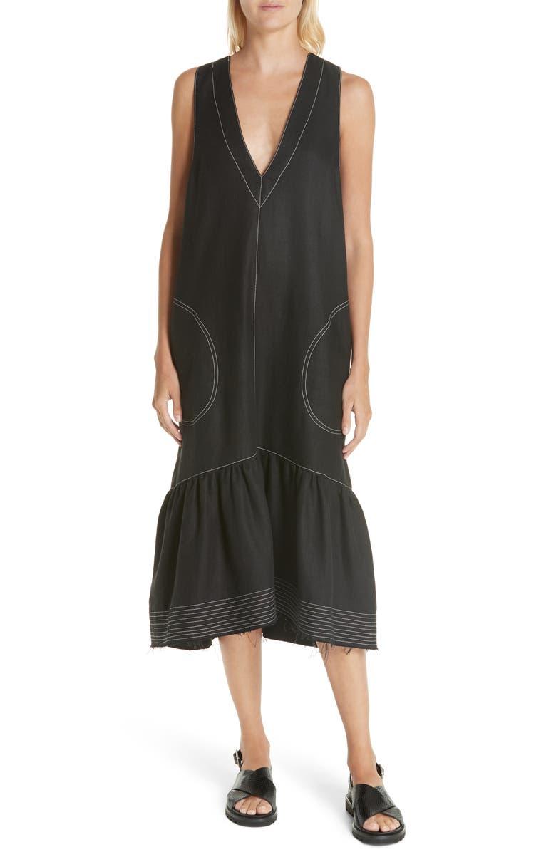Carrie Linen Midi Dress