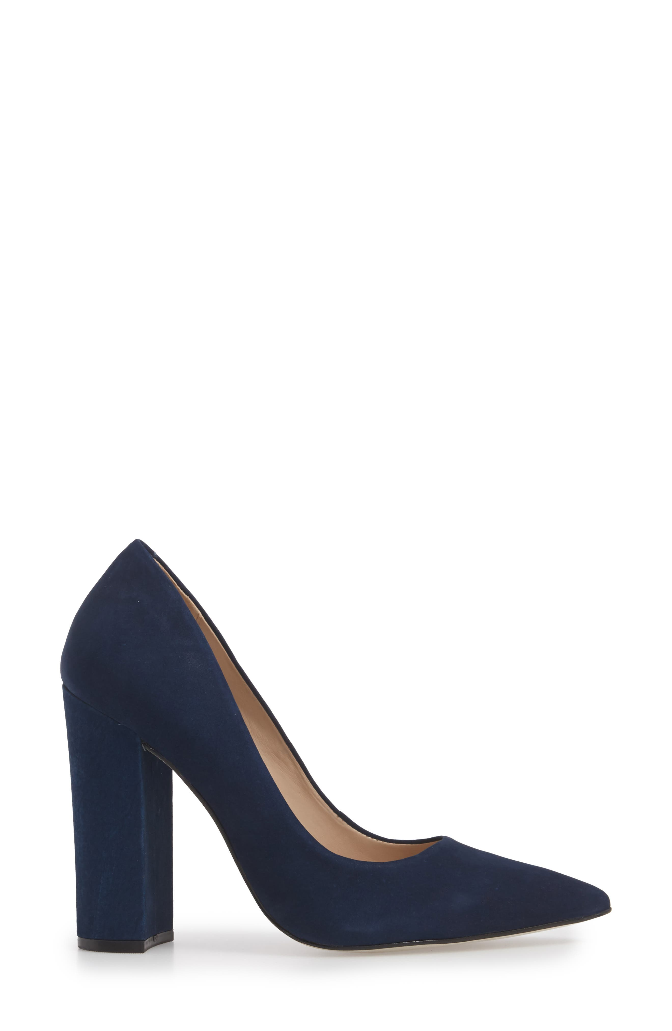Prance Pump,                             Alternate thumbnail 6, color,                             Navy Nubuck